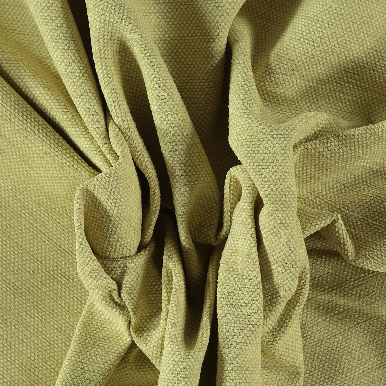 Upholstery chenille with structure lemon