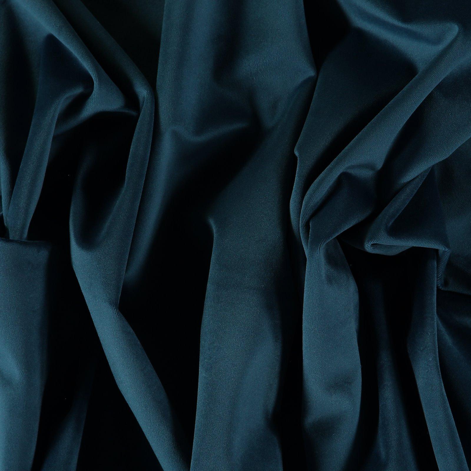 Upholstery shiny velvet petrol blue