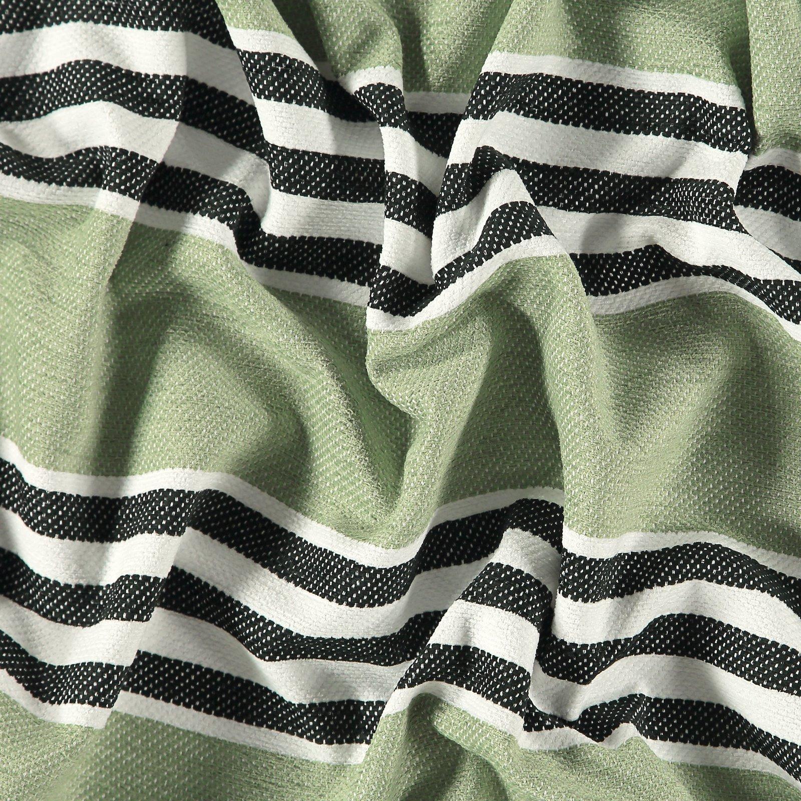 Jacquard black/green stripe