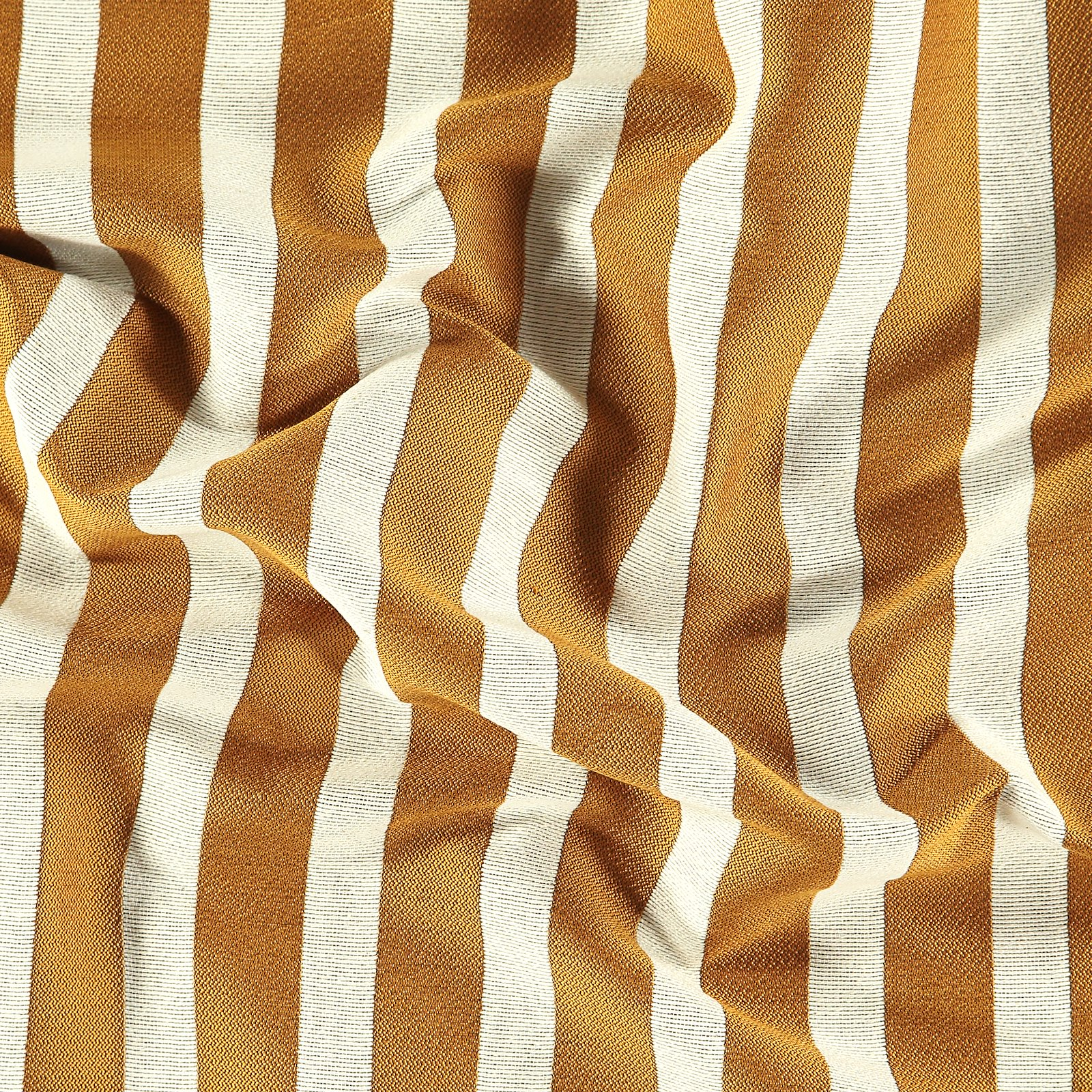 Jacquard yarn dyed curry/offwhite stripe