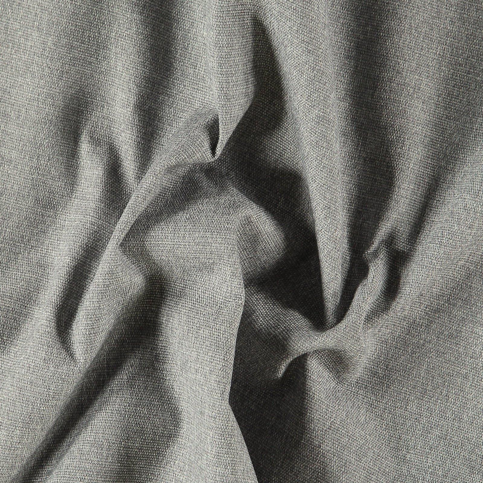 Upholstery fabric grey w/black backing