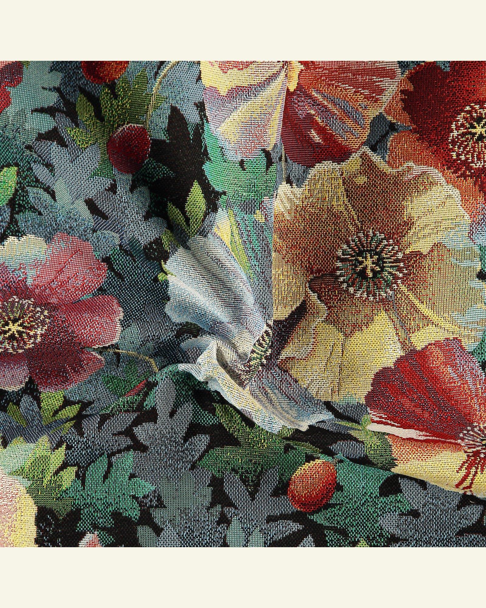 Gobelin, Schwarz mit farbigen Blumen