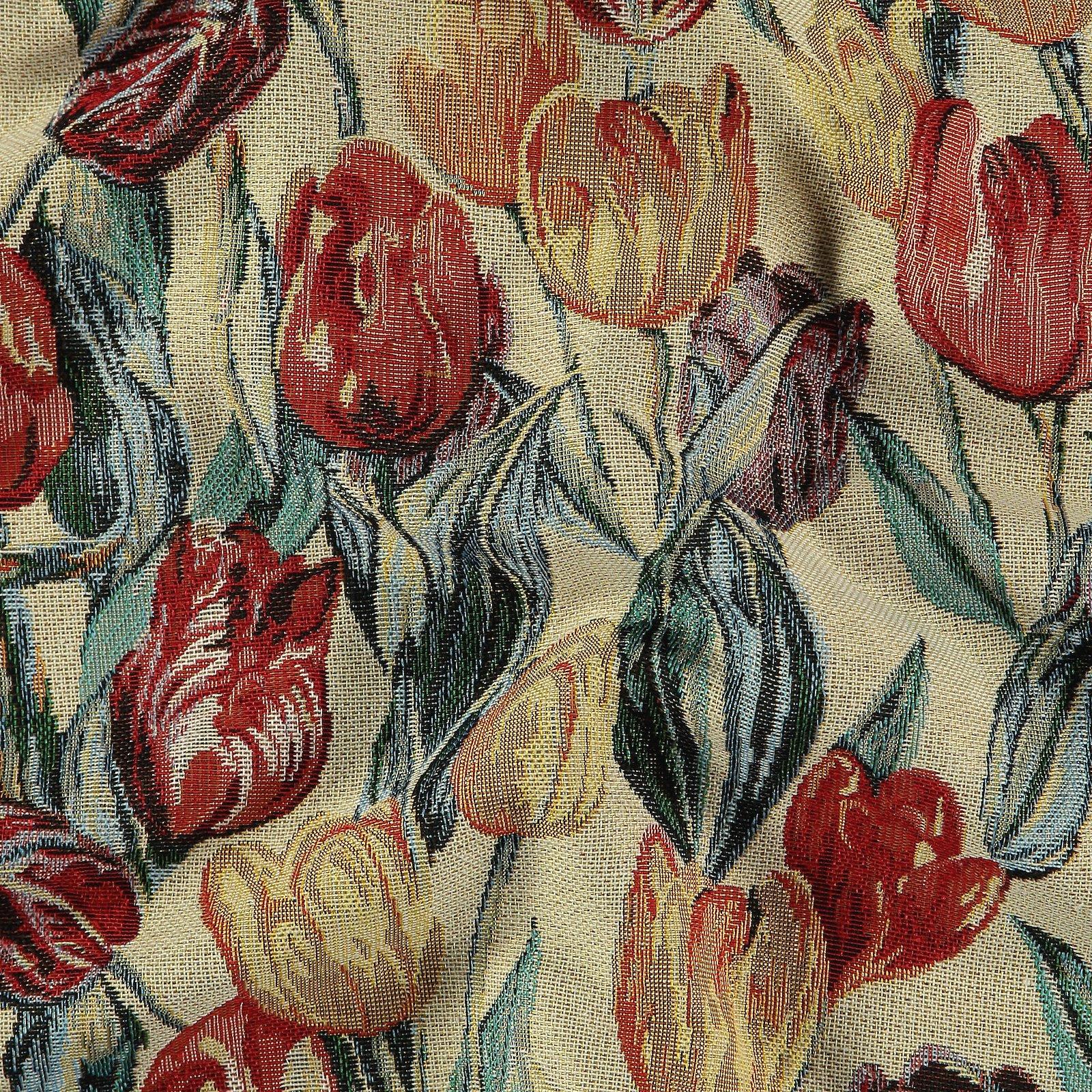 Gobelin nature with multicoloured tulips