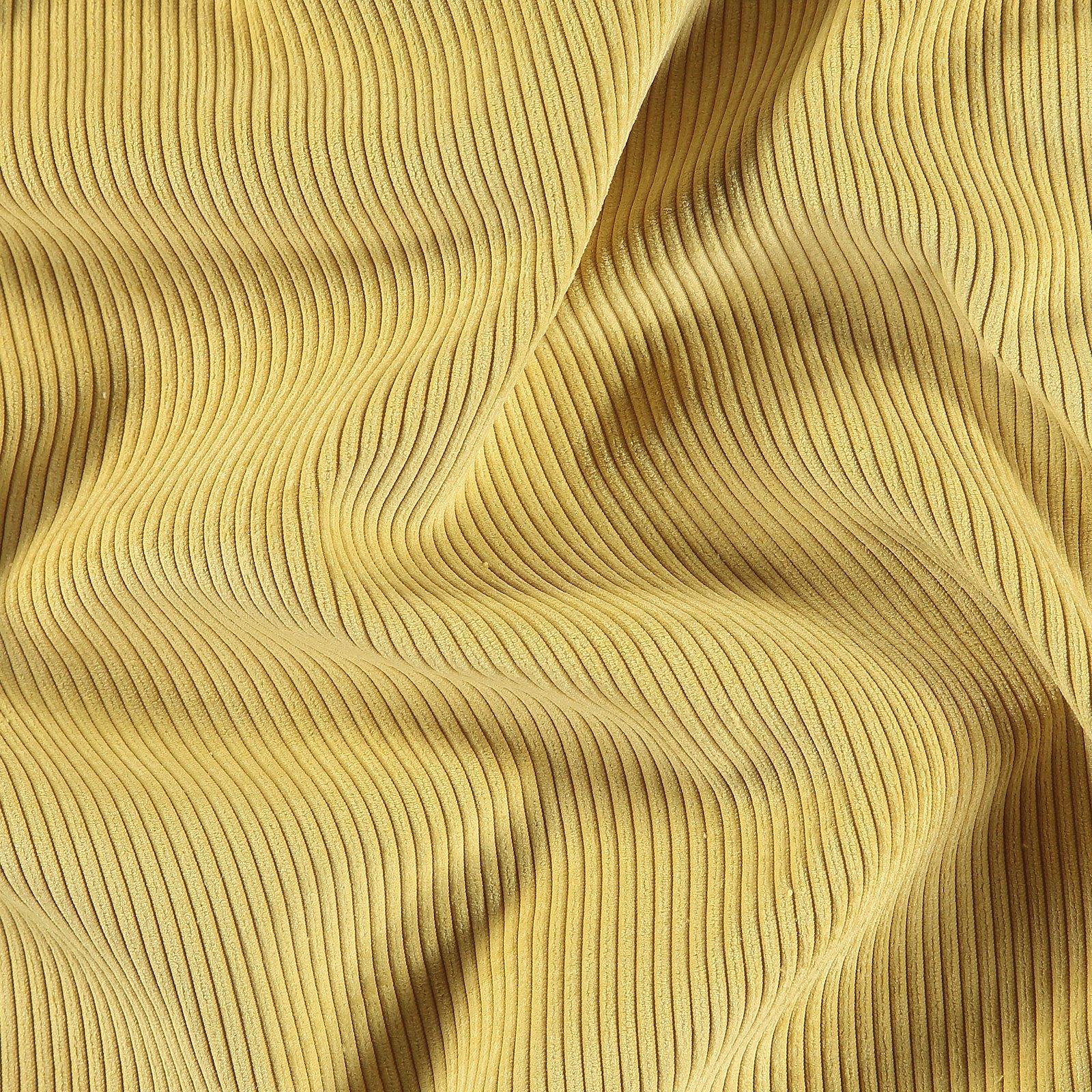 Upholstery corduroy 6 wales olive yellow
