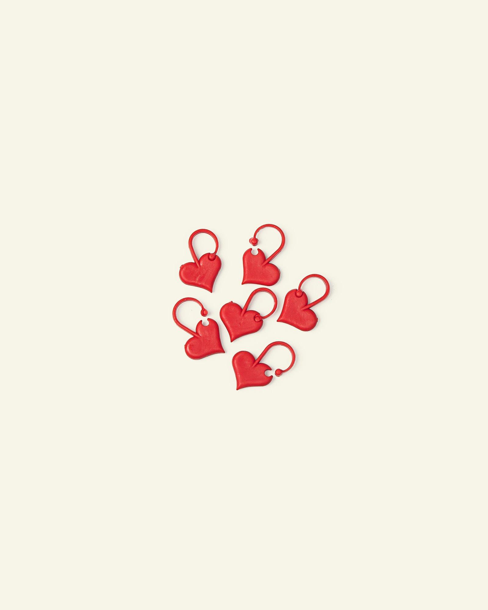 Addi stitch marker heart 6pcs