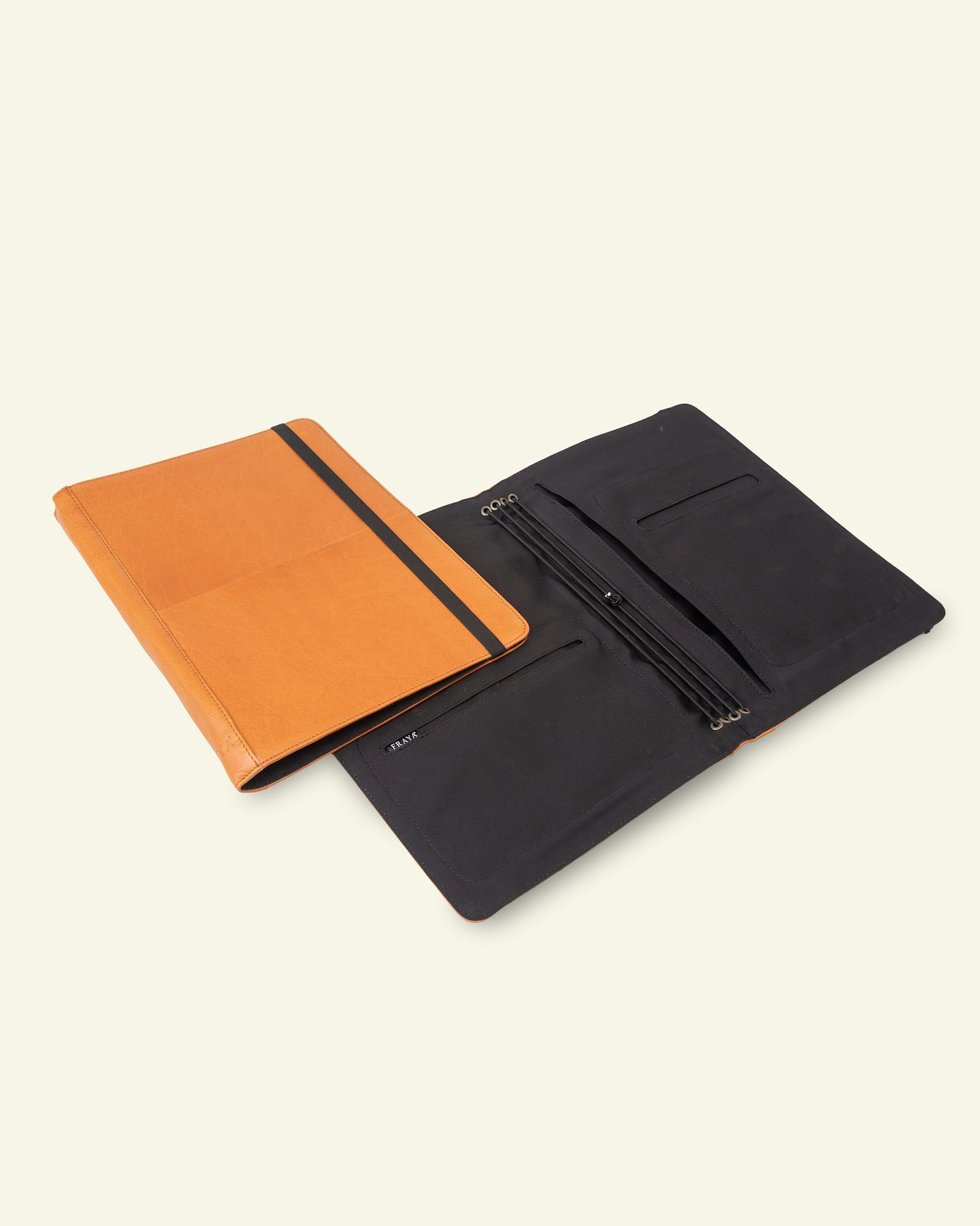 FRAYA leather project folder 32x24cm
