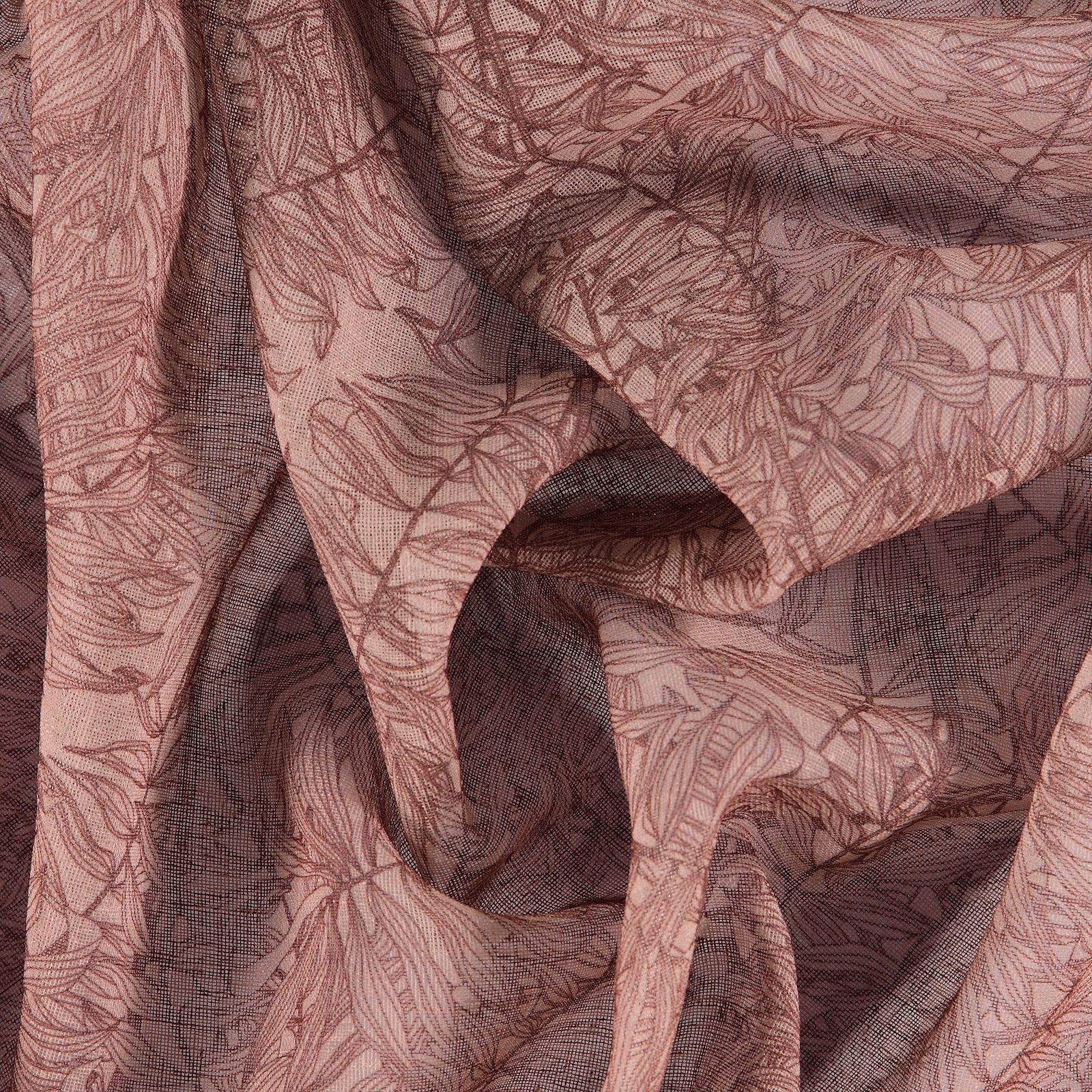 Voile lt redbrown w bordeaux leaves