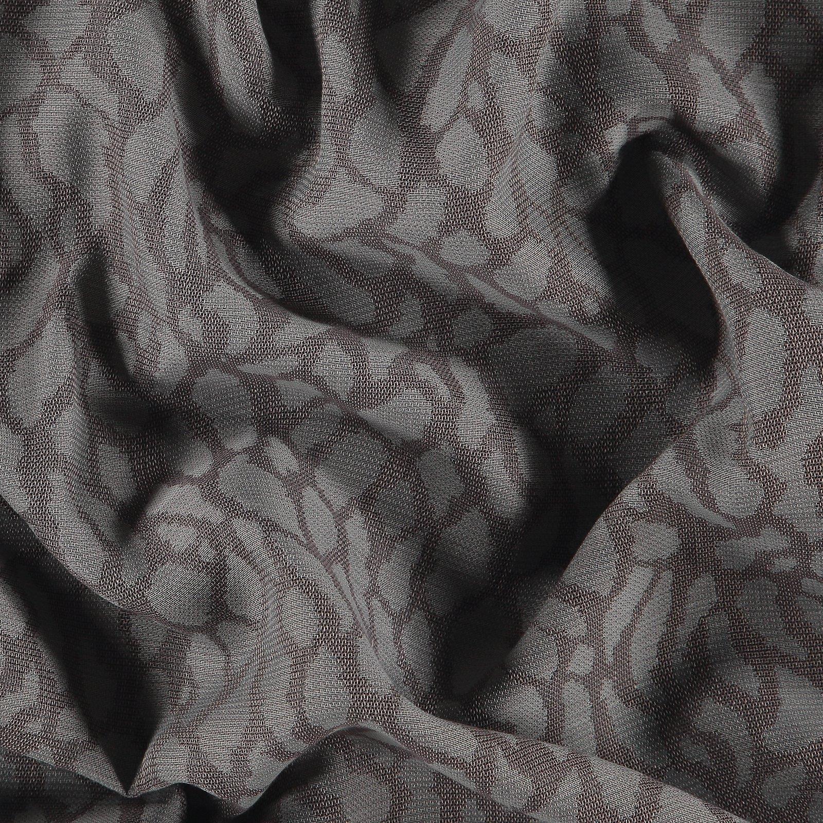 Jacquard light walnut w. grey leopattern