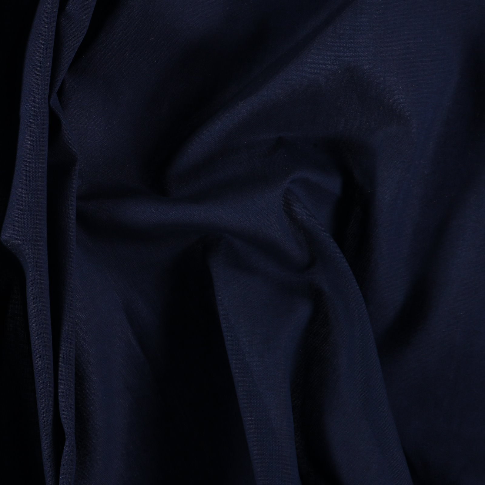 Light woven cotton dark blue