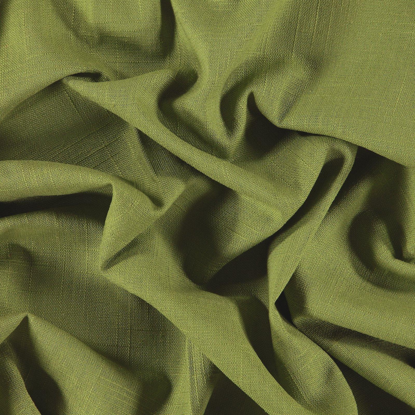 Leinen/Viskose, Kräftig Grün Struktur
