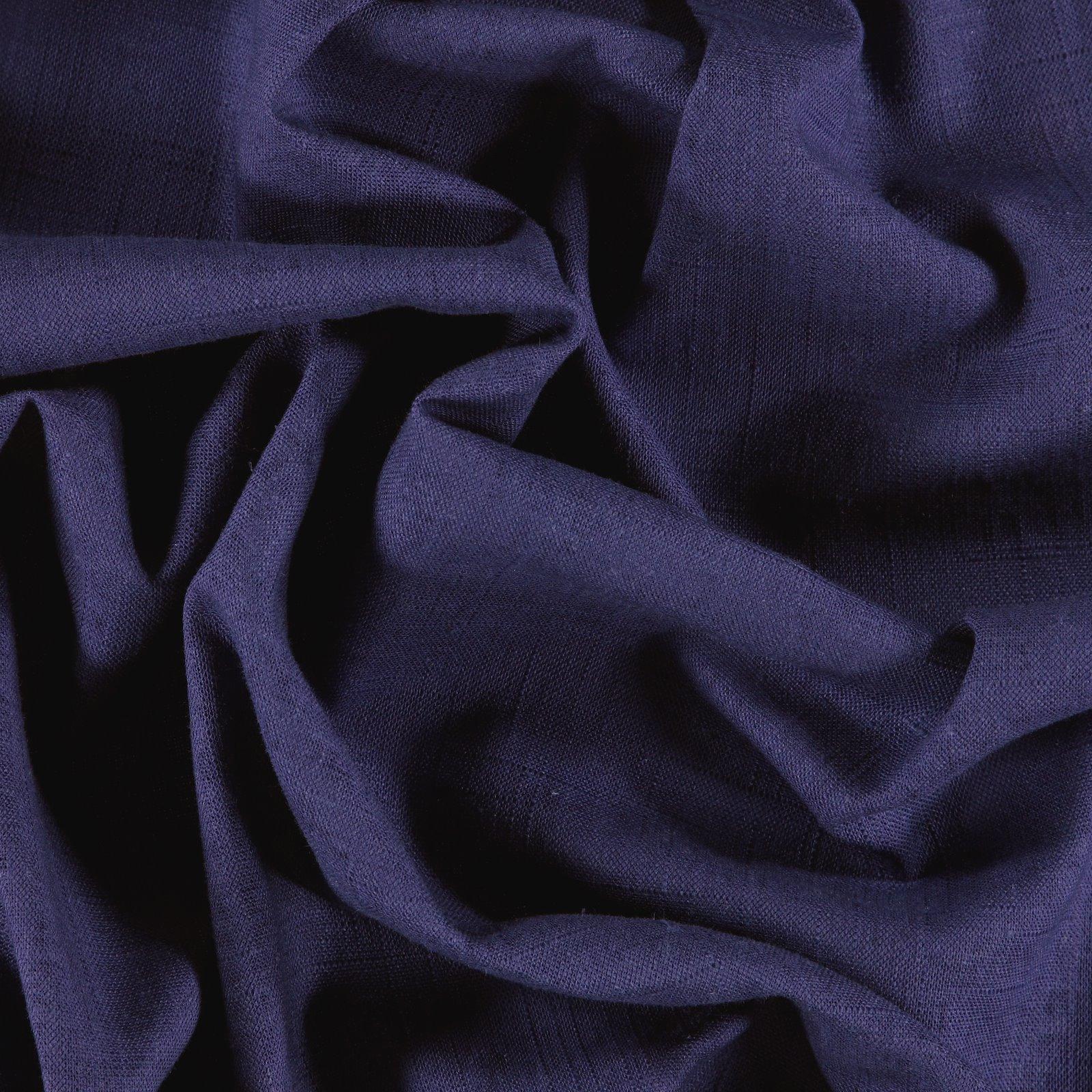 Leinen/Viskose, Kräftig, Dunkel Kobalt