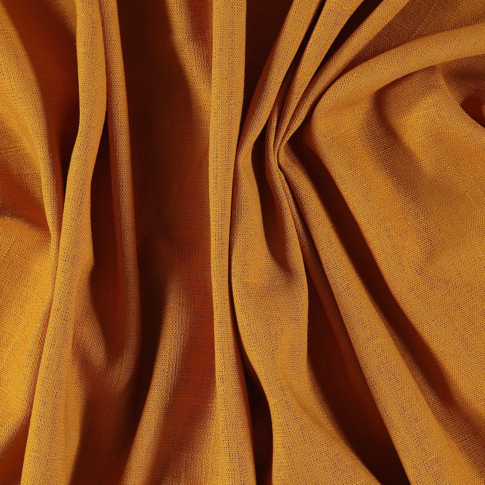 Leinen/Viskose mit Struktur, gold Curry