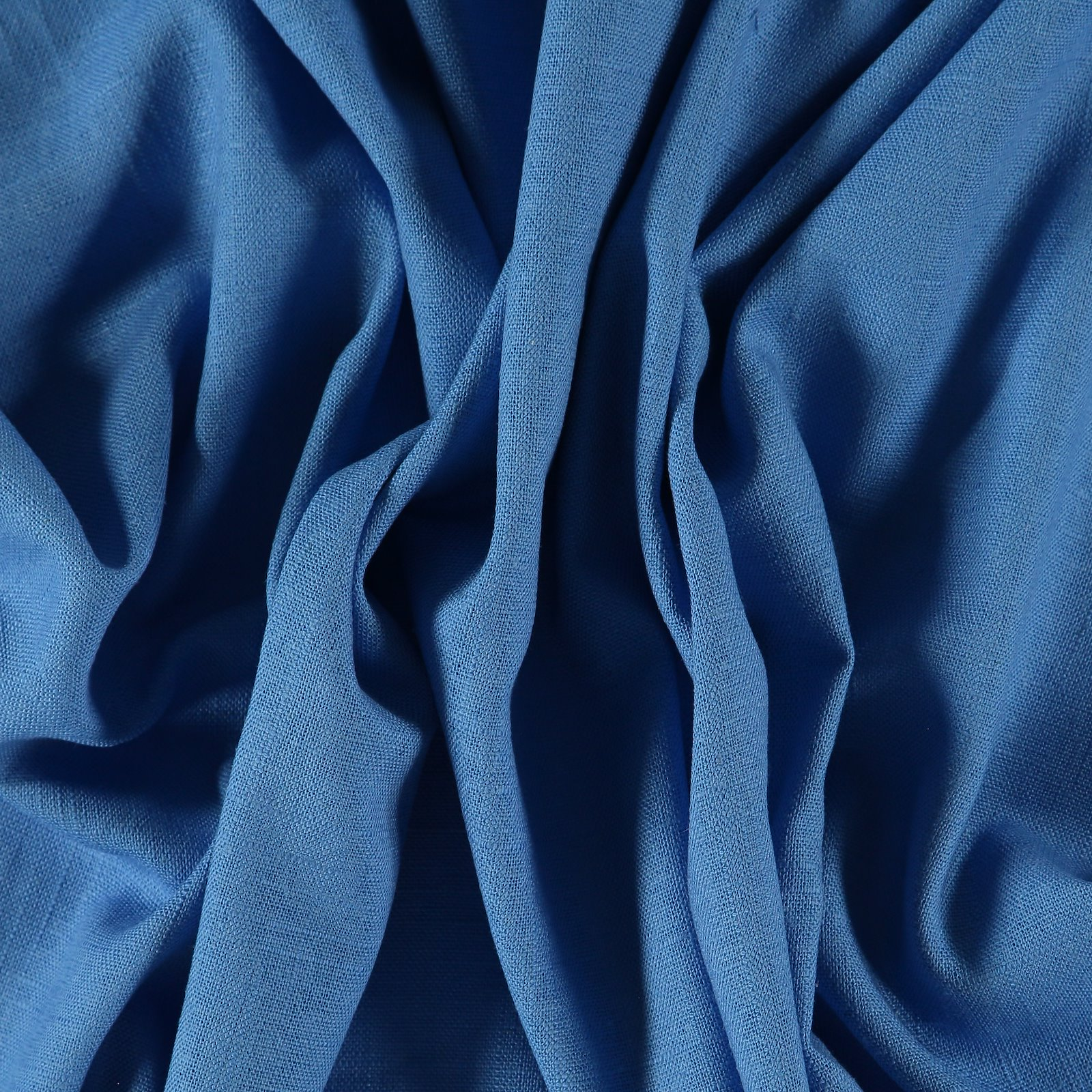 Leinen/Viskose, Hell Kobaltblau