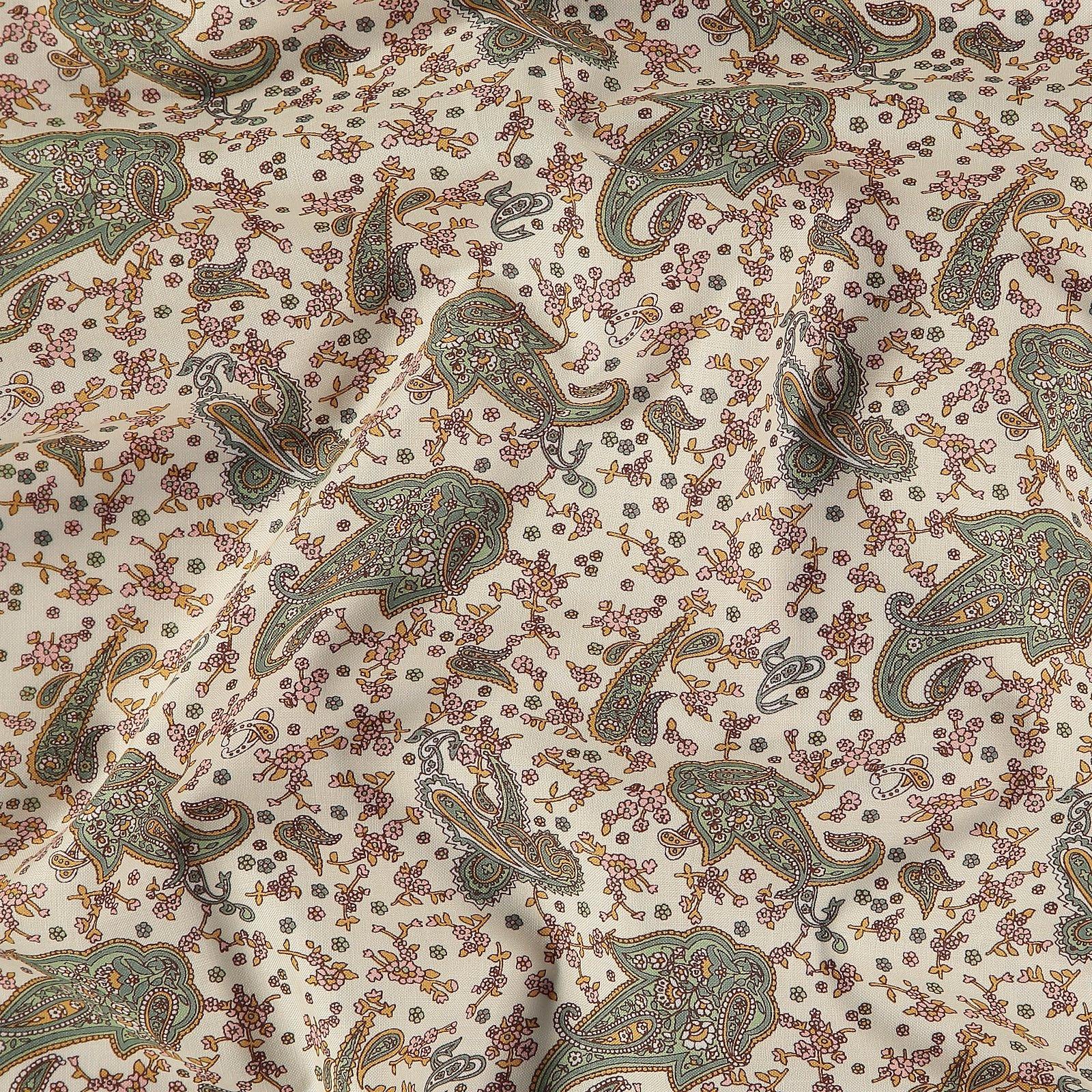 Cotton pastel powder w paisley pattern