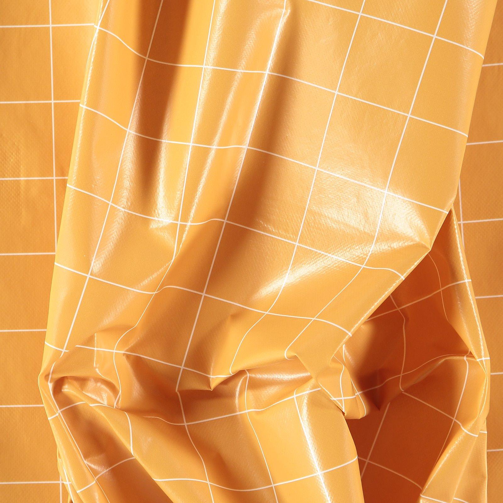 Non-woven oilcloth warm curry checkered