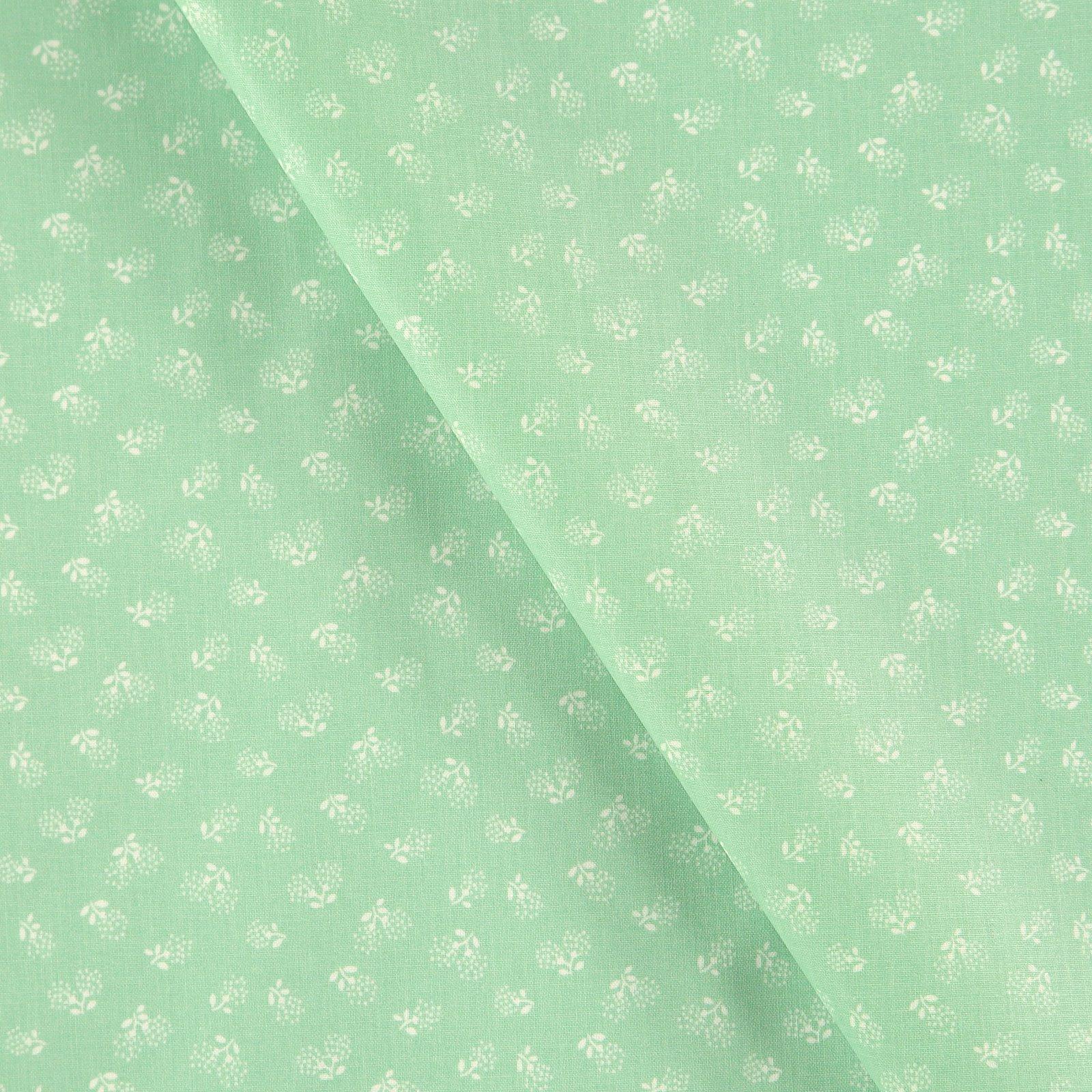 Woven oil cloth mint w flowers