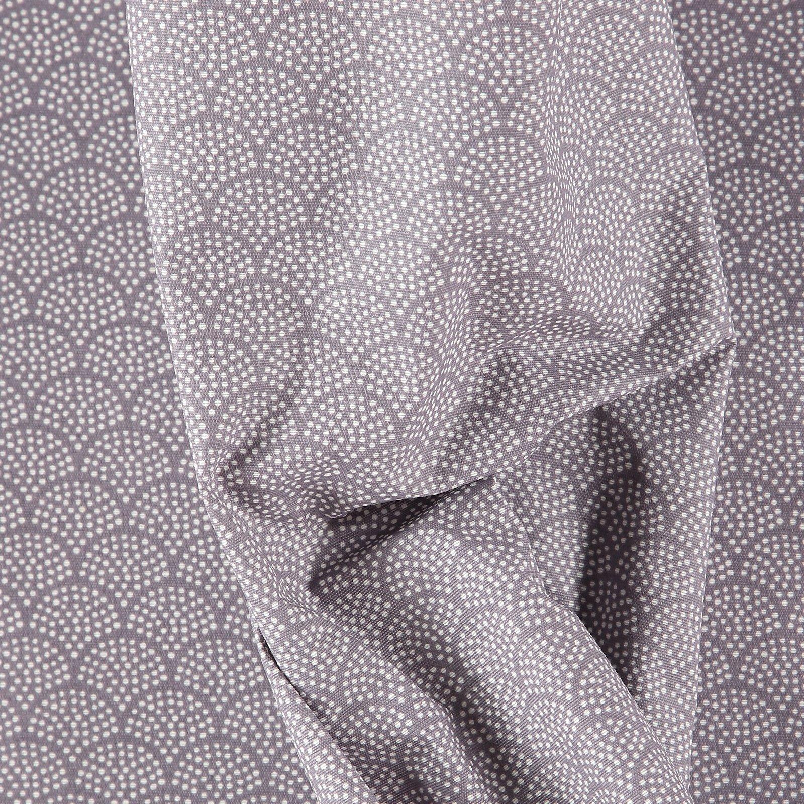 Woven oilcloth dusty purple/white arches