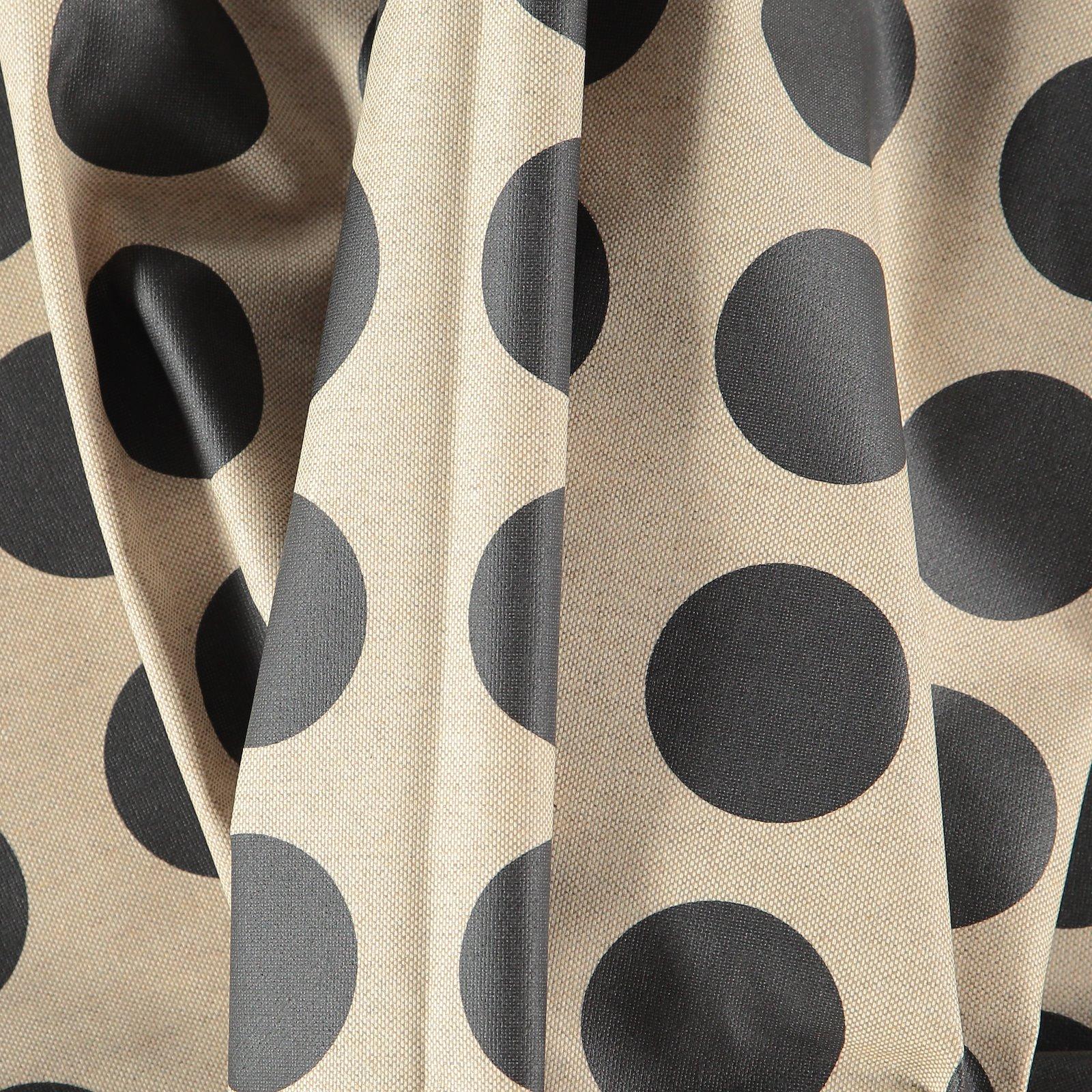 Woven oilcloth linenlook w black dots