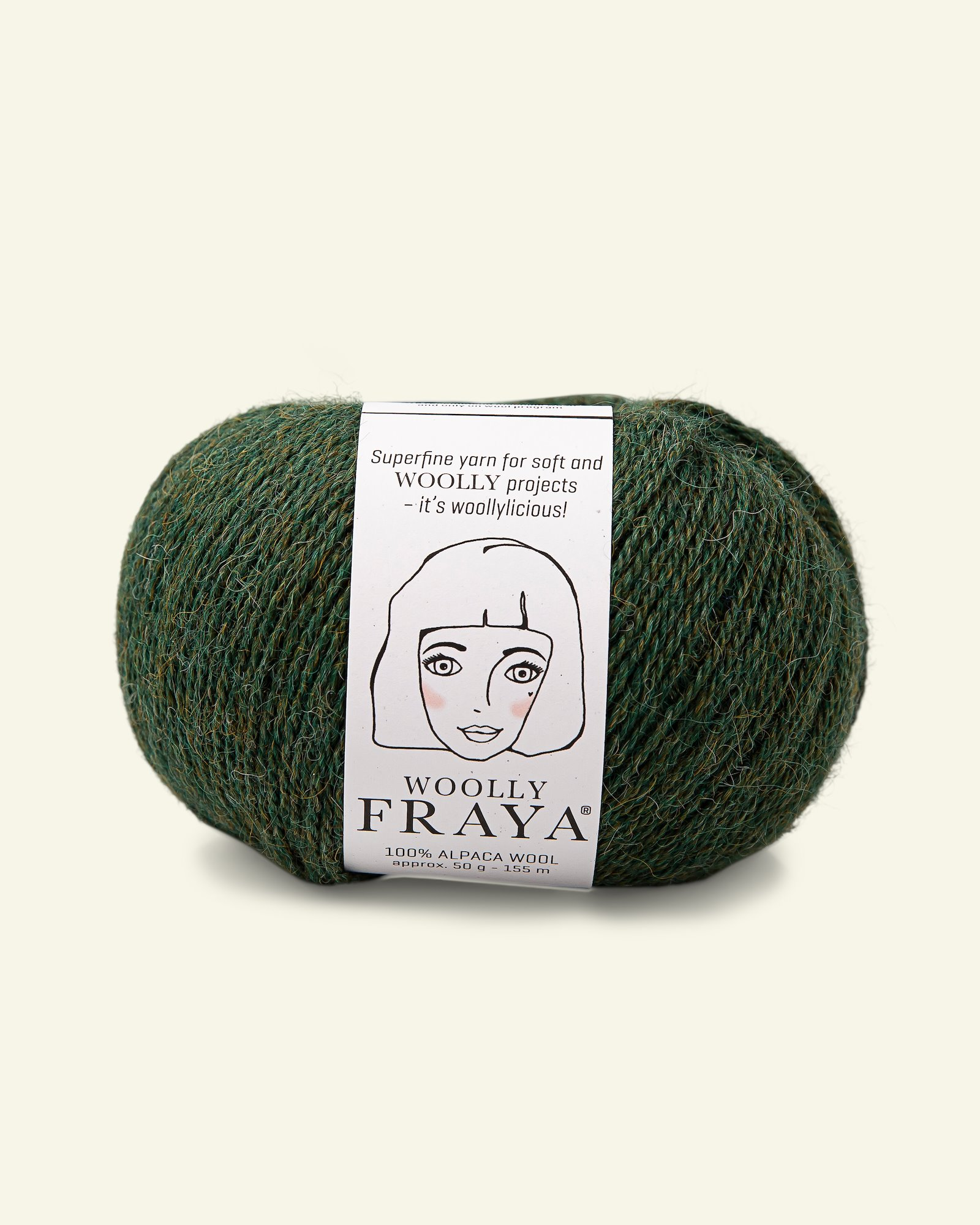 Woolly 50g, Grün Melange