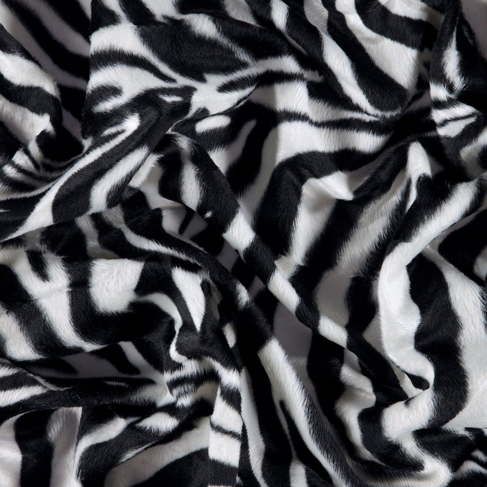 Fellimitat Schwarz/Weiß Zebra 2mm