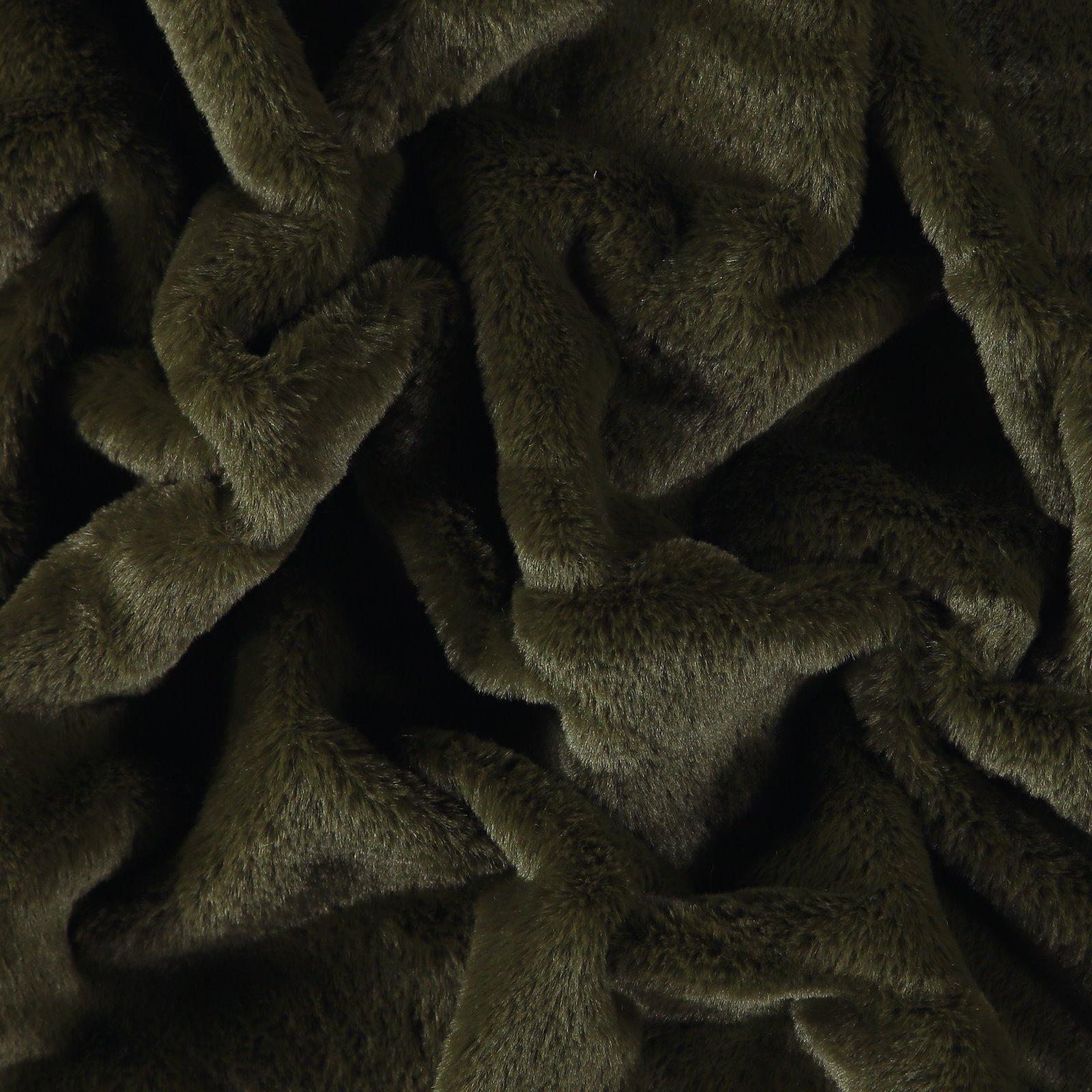 Kunstfell, Armygrün - 5mm