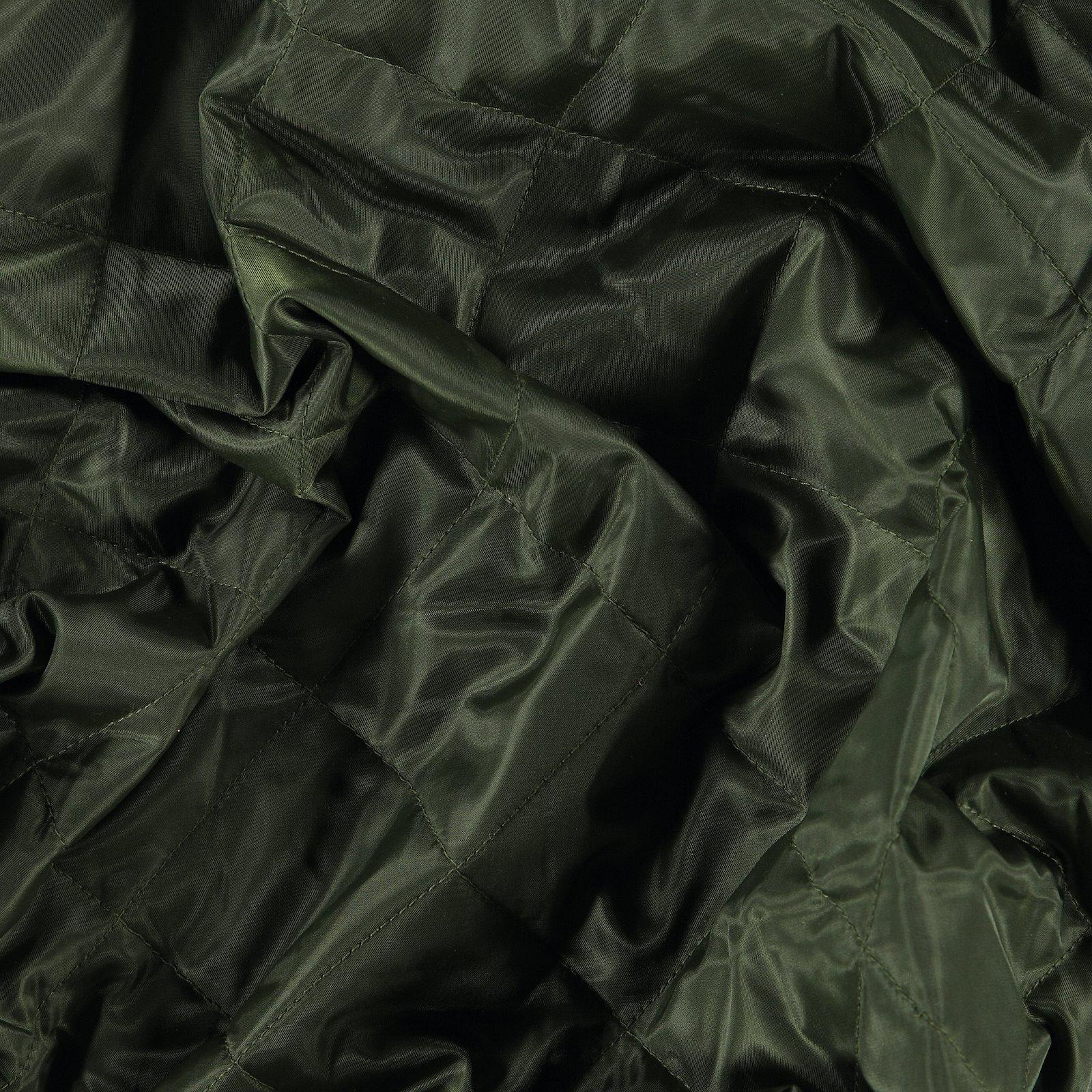 Gewebe, gequiltet, Armygrün mit Futter