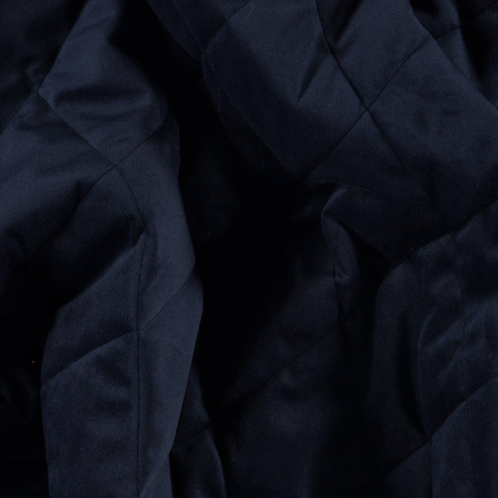 Velours, gequiltet, Navy