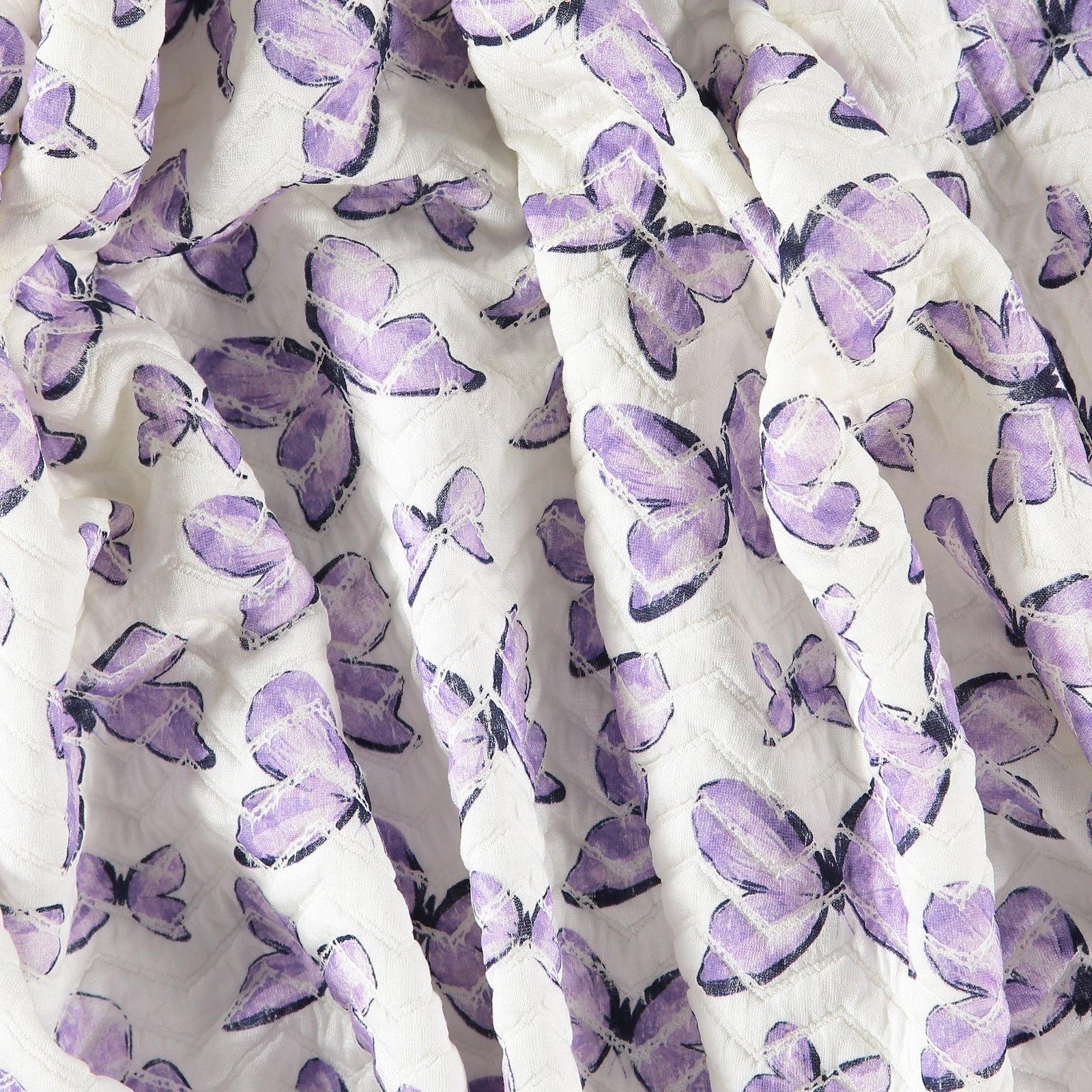 Quilt Natur mit lila Schmetterlingen
