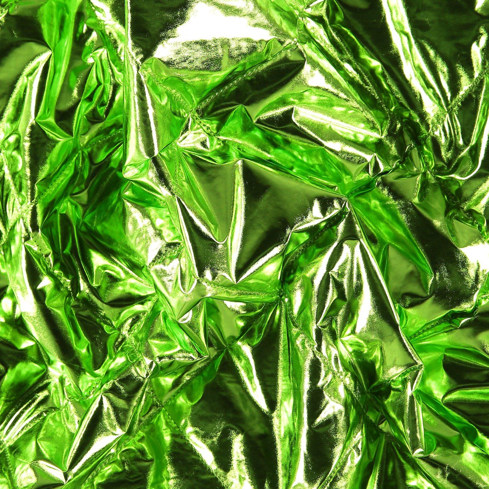 Gequiltete grüne Folie mit Futter