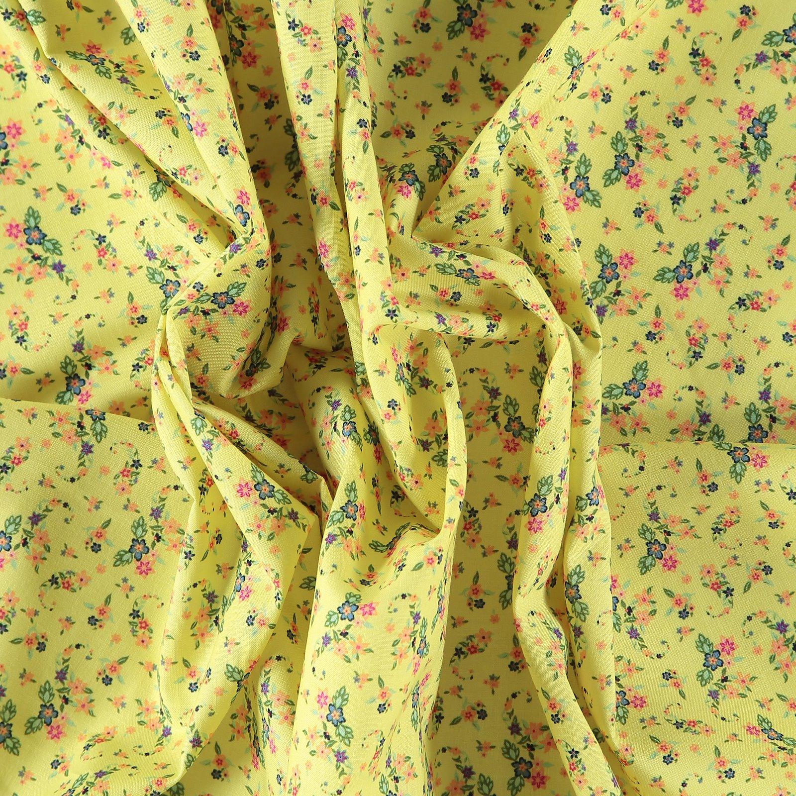 Fat Quarter 45x55cm, Lemon mit Blumen