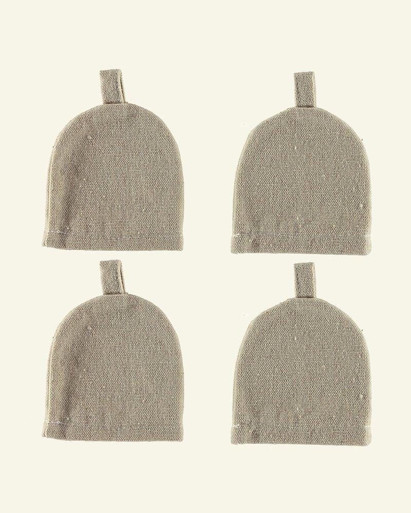 Fabric egg warmer  85x75mm 4 pcs