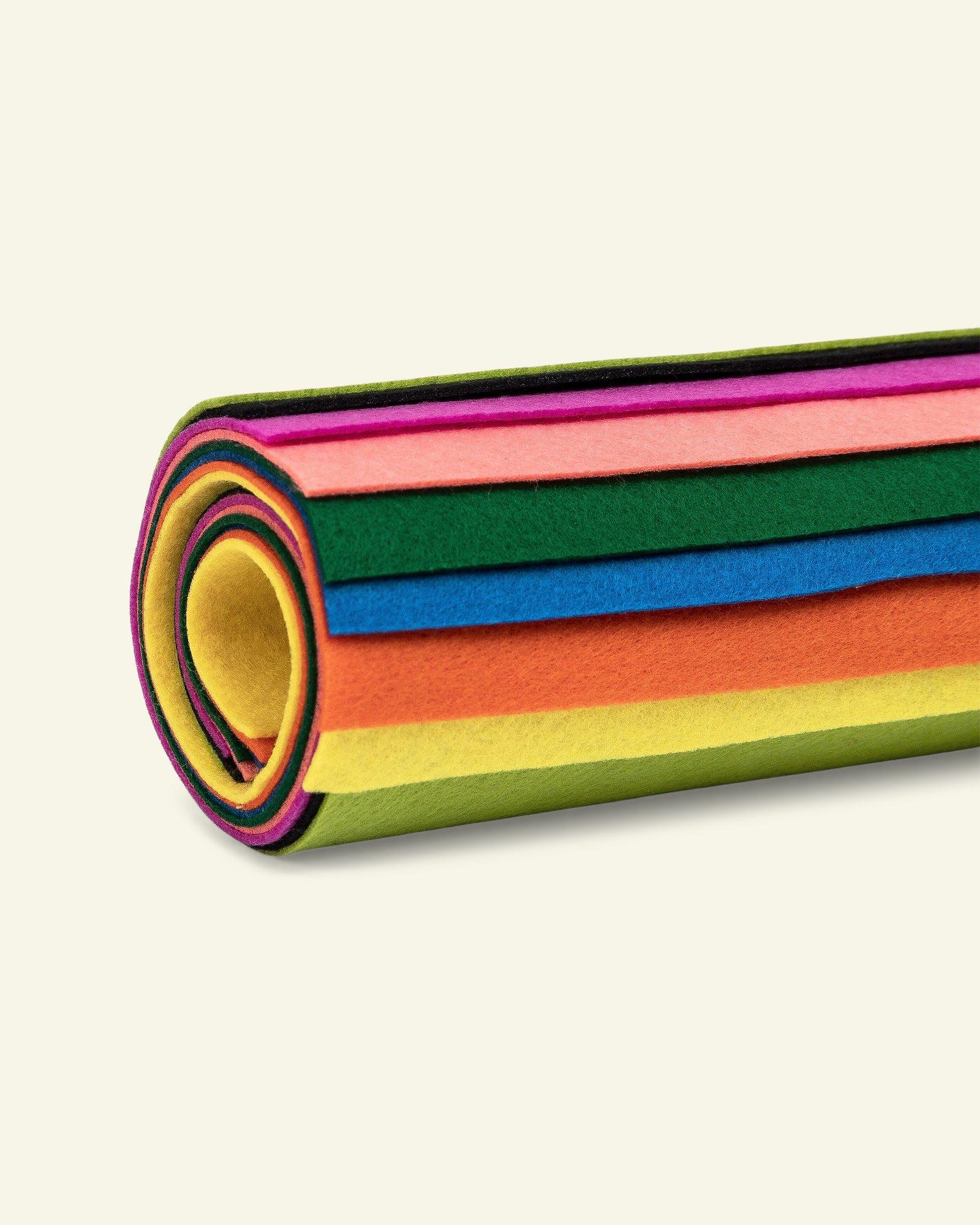 """Filz 1,3mm 19,5x30cm """"Happy""""farbig 8 St."""