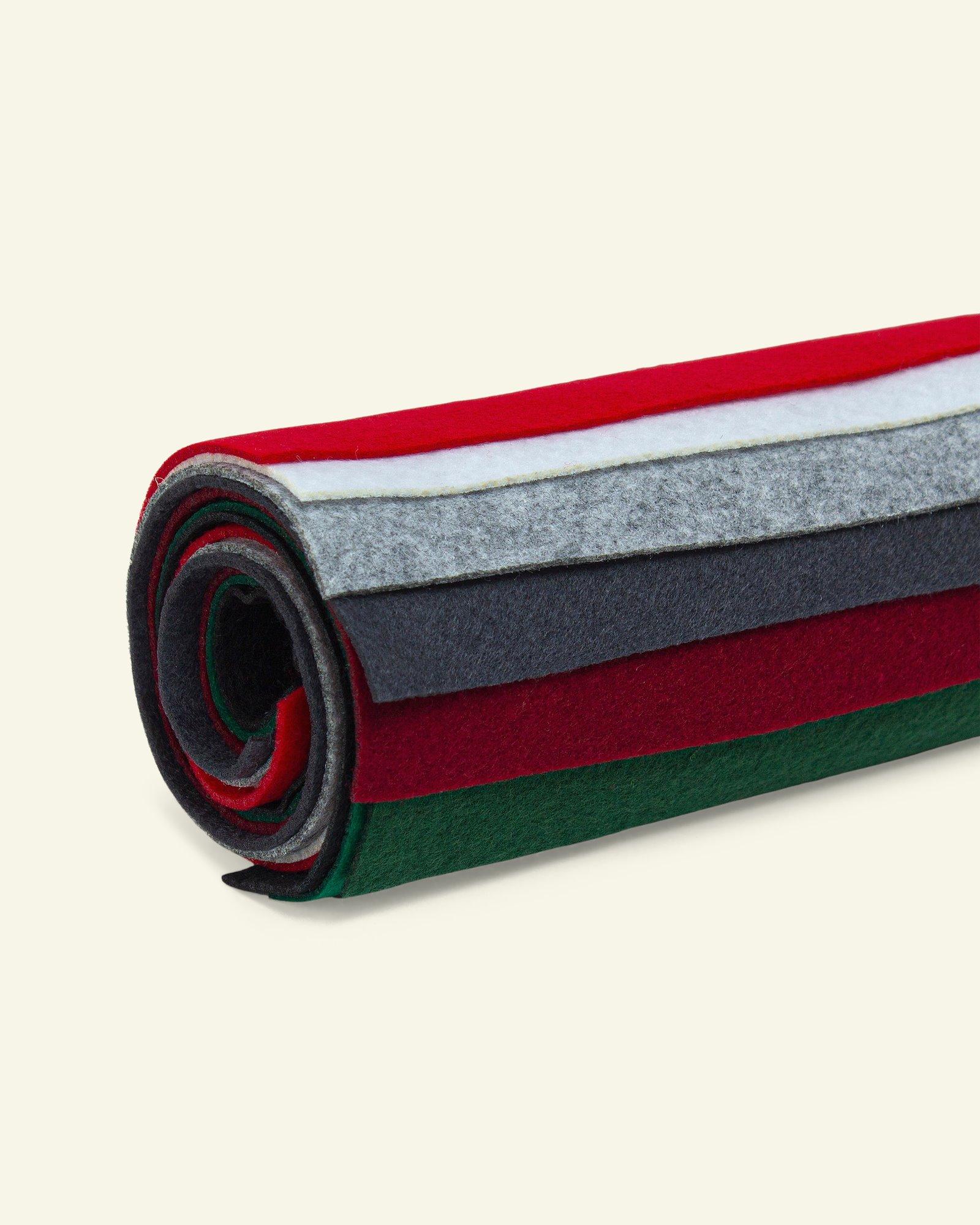 Filz 1,3mm 19,5x30cm Weihnachtsf., 8 St.