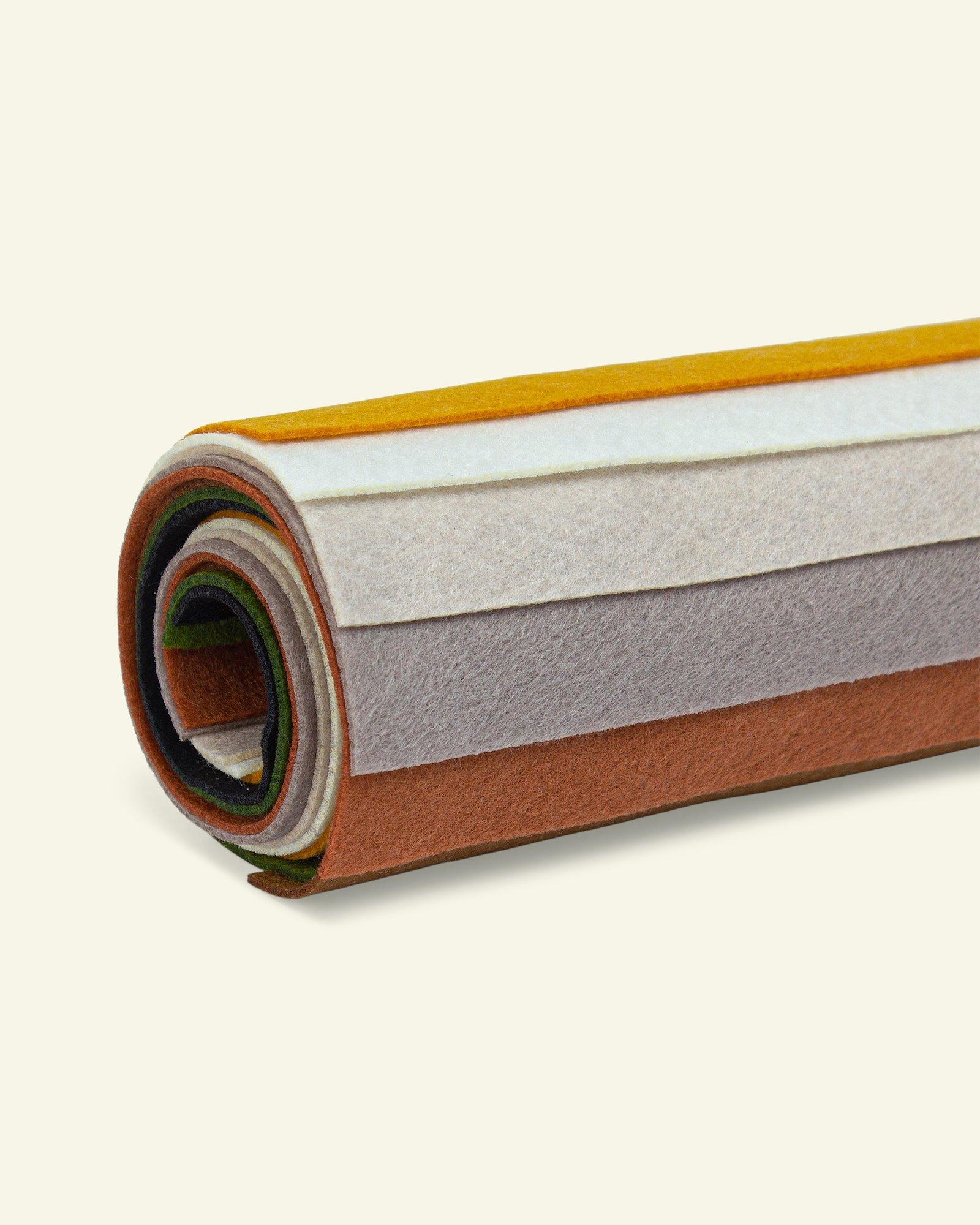 Filz 1,3mm 19,5x30cm Naturfarben, 8 St.
