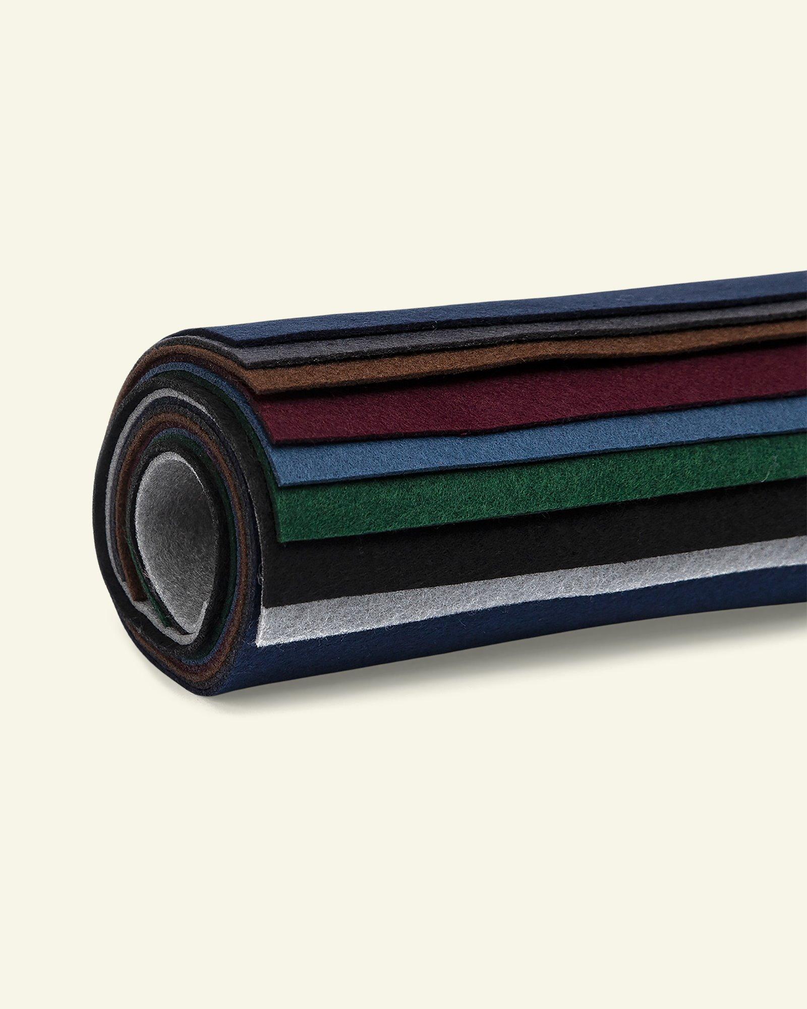 Felt 1,3mm 19,5x30cm dark colours 8 pcs