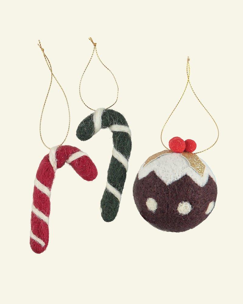 Kit wool stick/christmas ball 5-11cm 3pc
