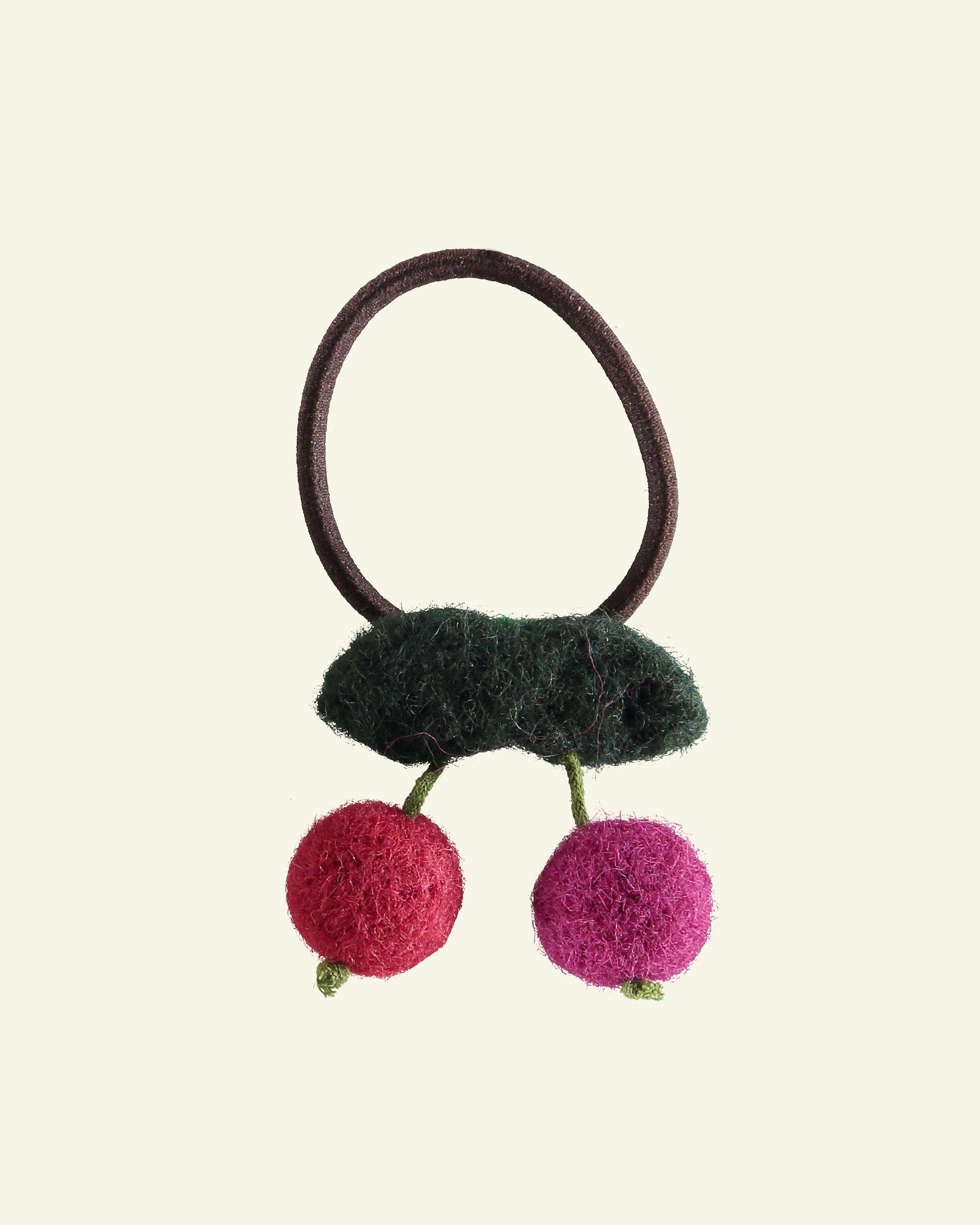 Kit felt hair accessories cherry 9cm 1pc