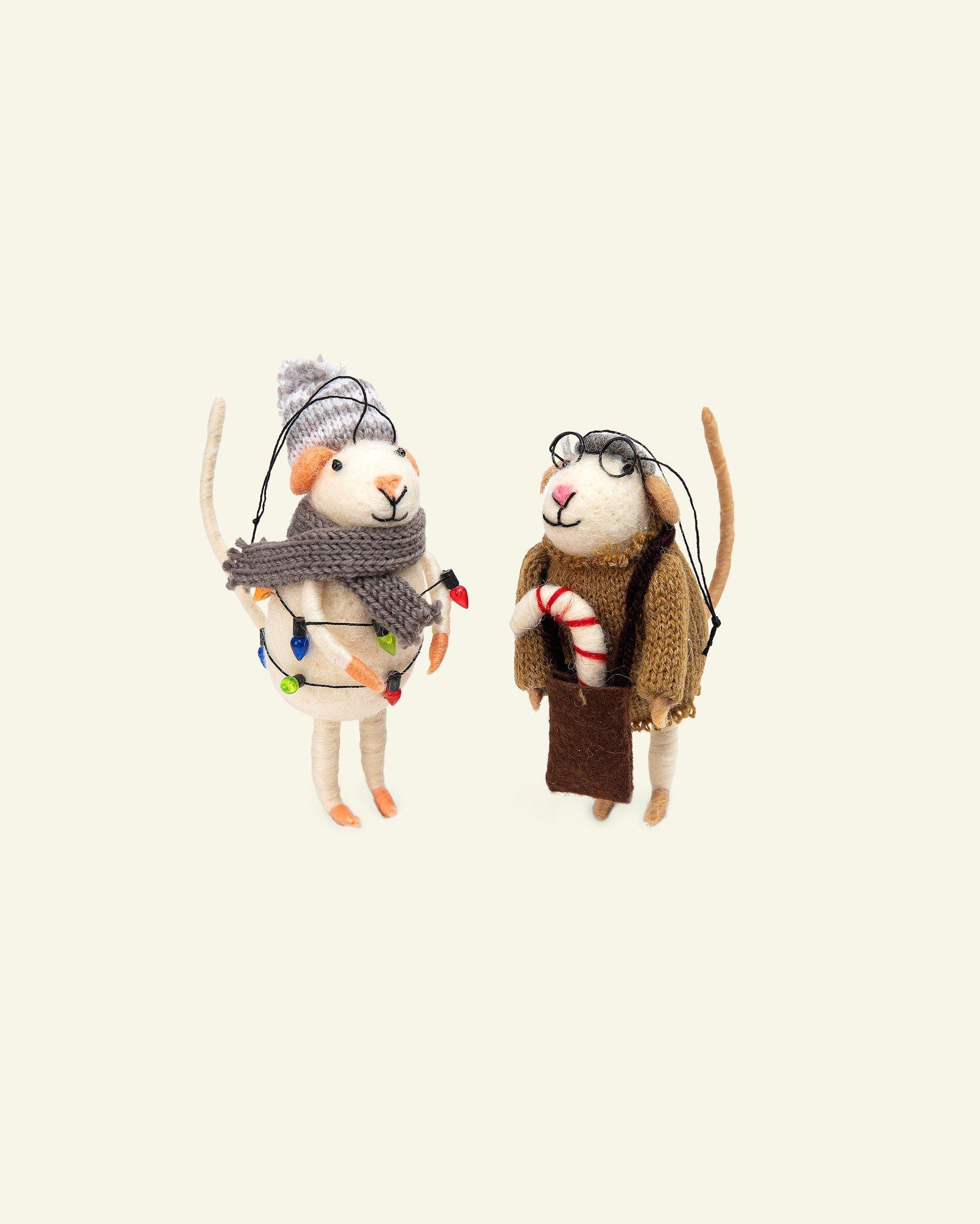 Kit wool mouse winter 12cm 2pcs