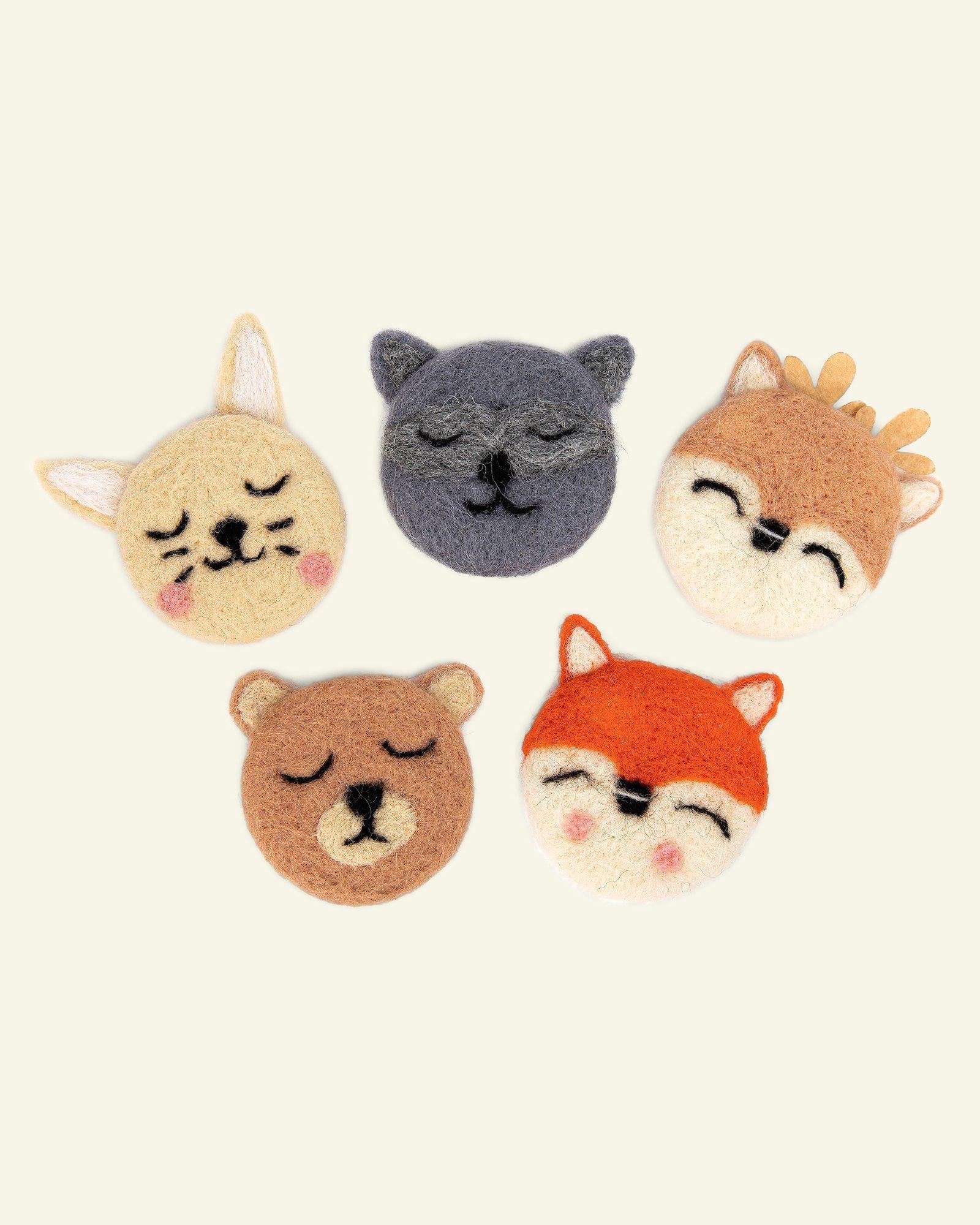 Kit wool animals 8cm 5pcs