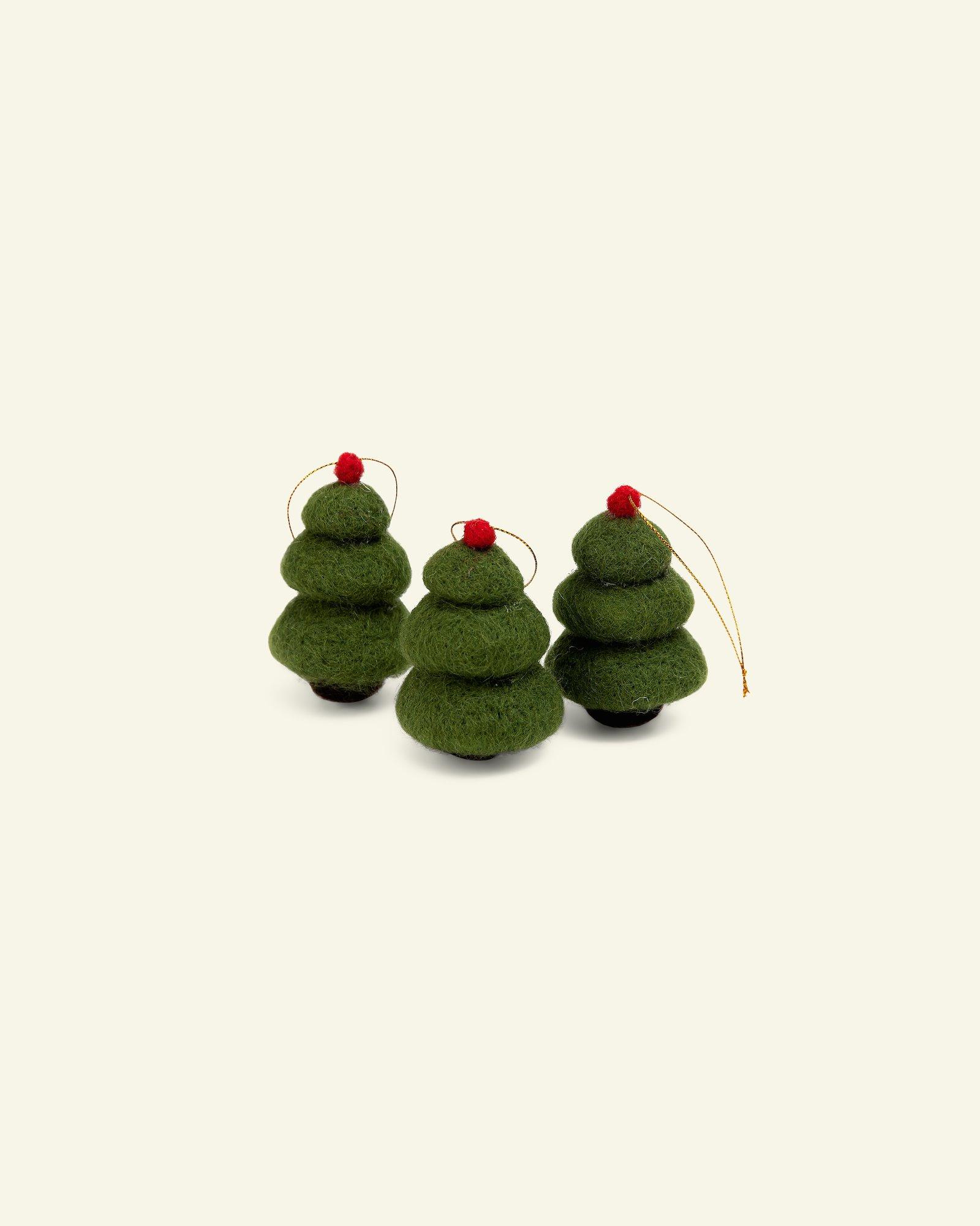 Woll-Kit Weihnachtsbaum, 6cm Grün, 3 St.