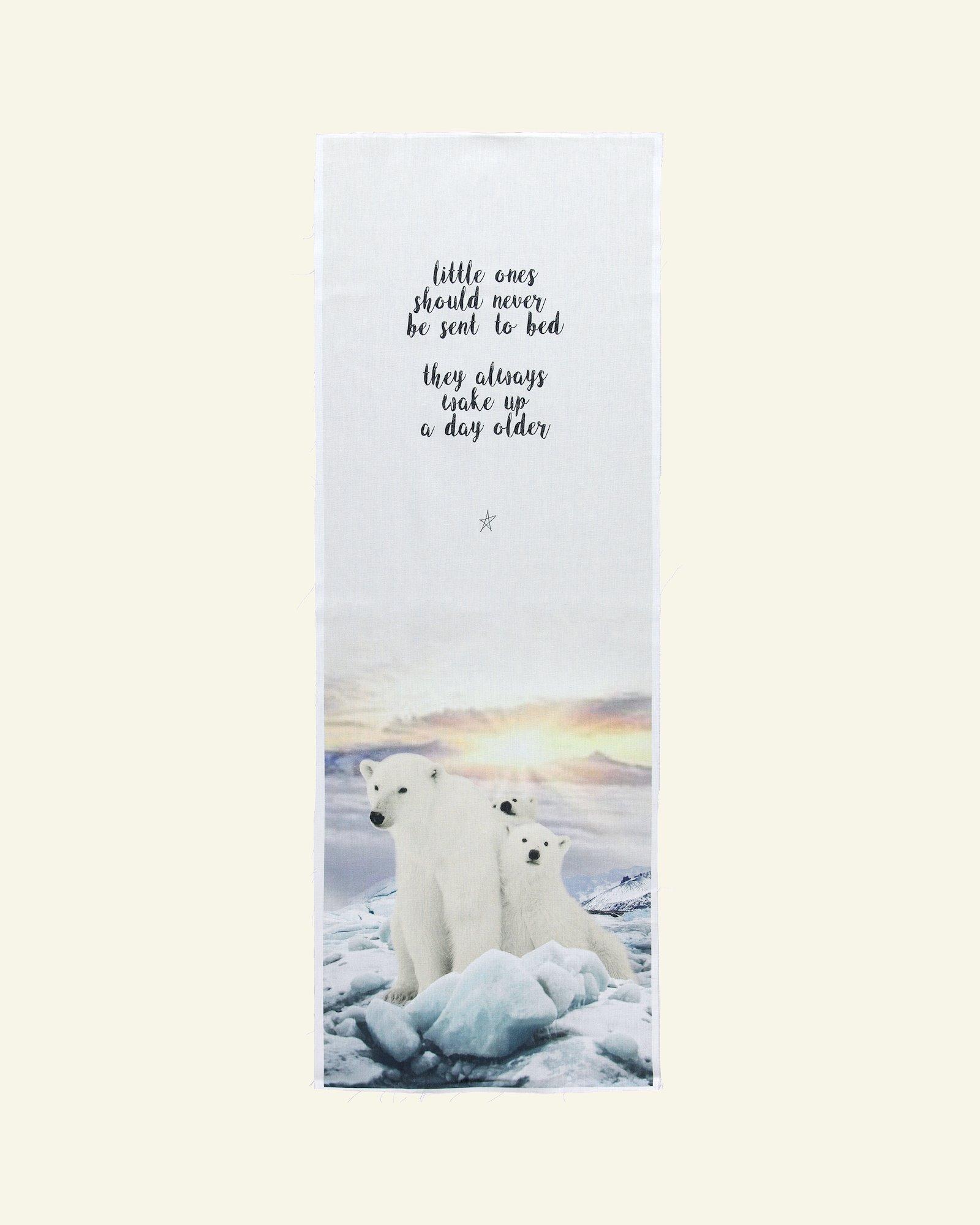 Gewebte, bedruckt m Eisbären 40x120 cm