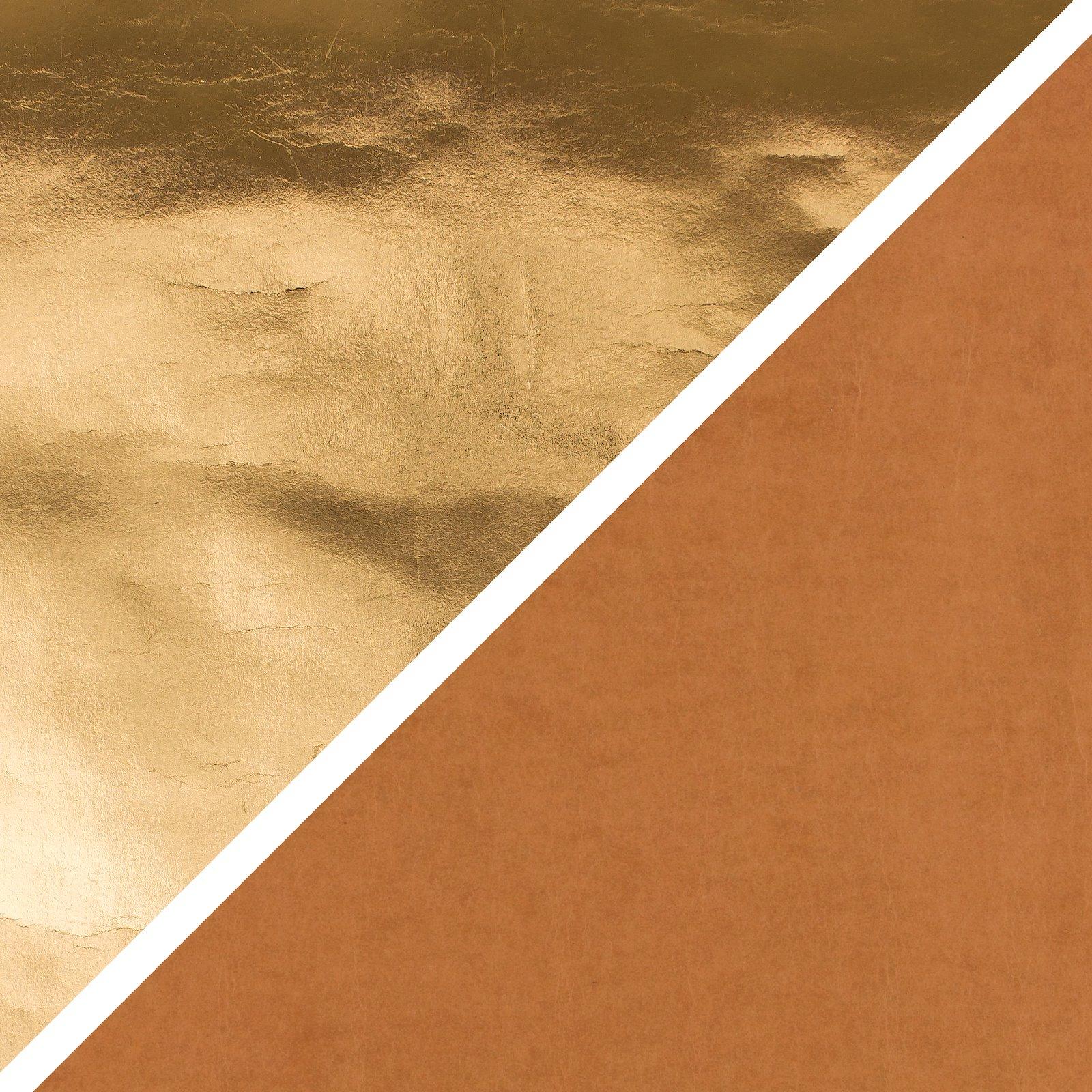 PAP FAB Gold/Cognac, 72x100cm