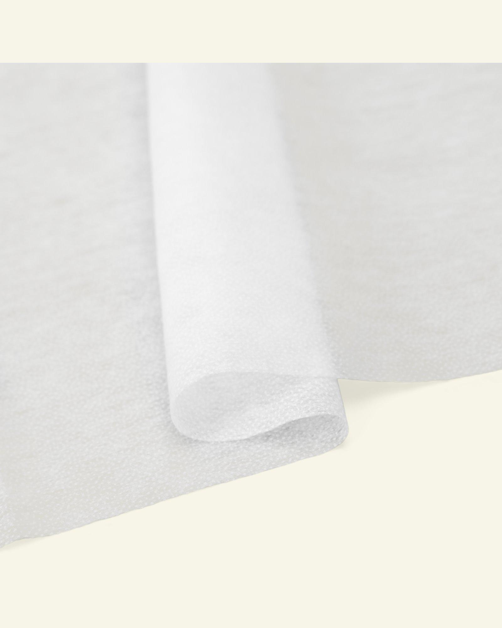 Stretch knitted interlining white w/glue