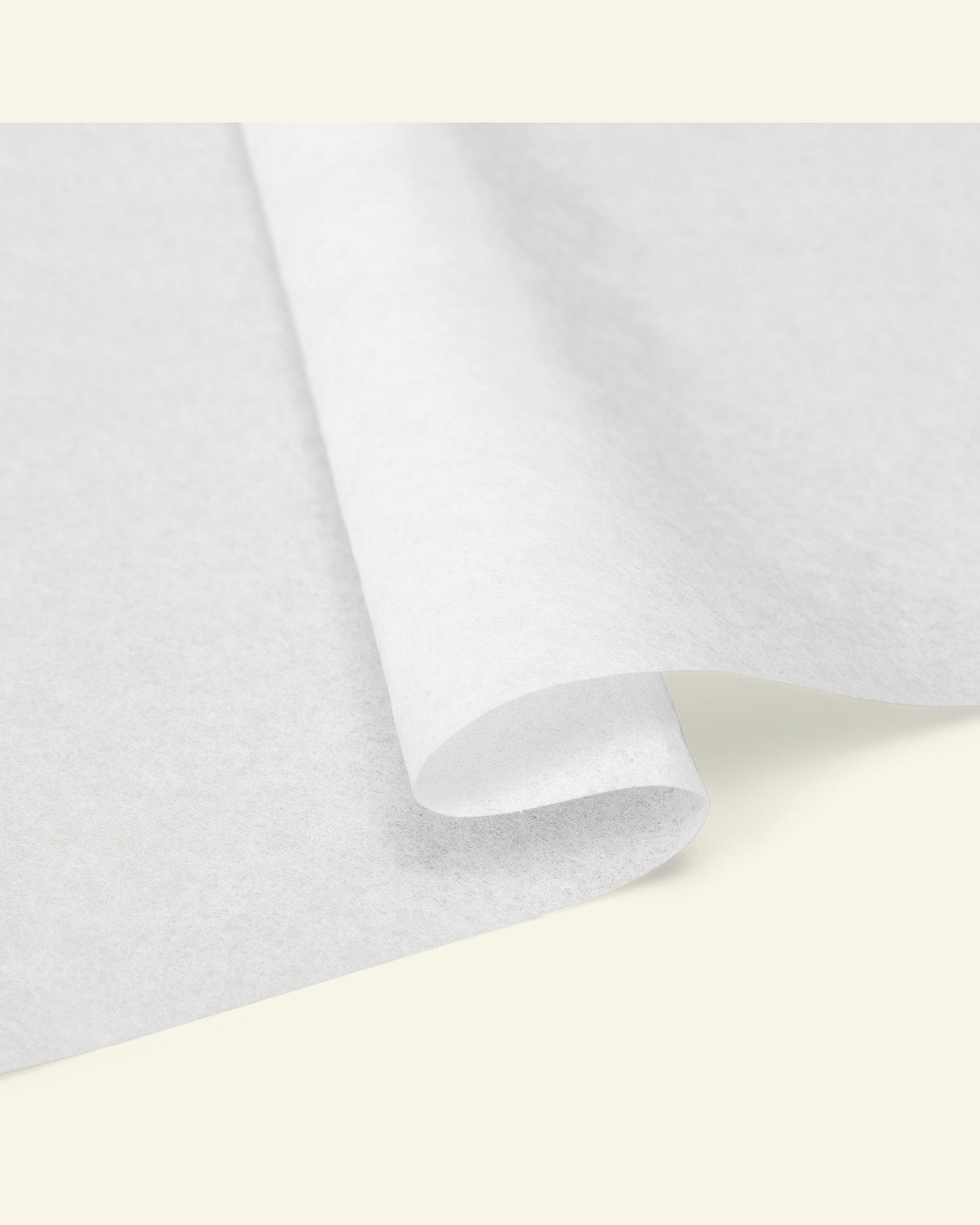 Stable nonwoven interlining white w/glue