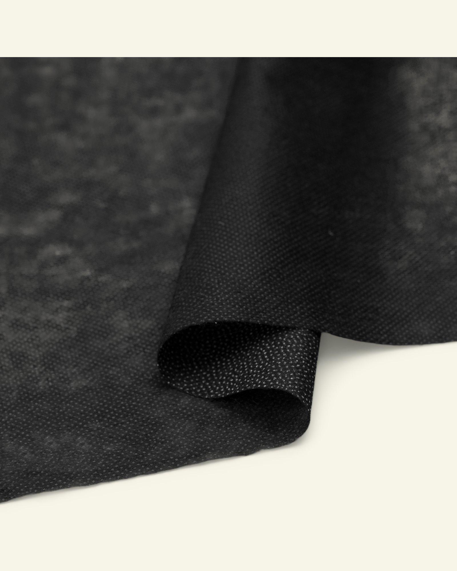Stretch knitted interlining black w/glue
