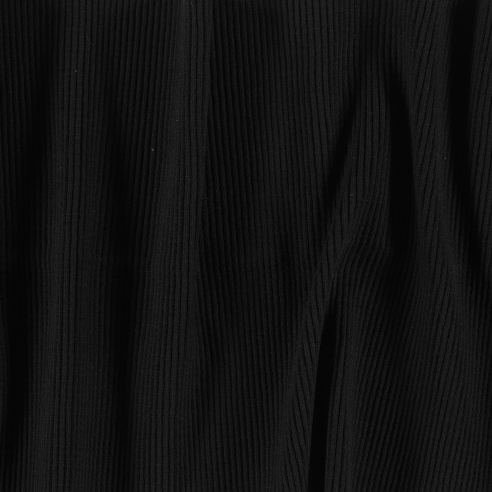 Rib-Jersey 2x2, 30x100cm Schwarz, 1 St.