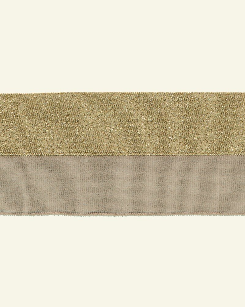 Rib-Jersey 1x1, 3x100cm Beige/Gold