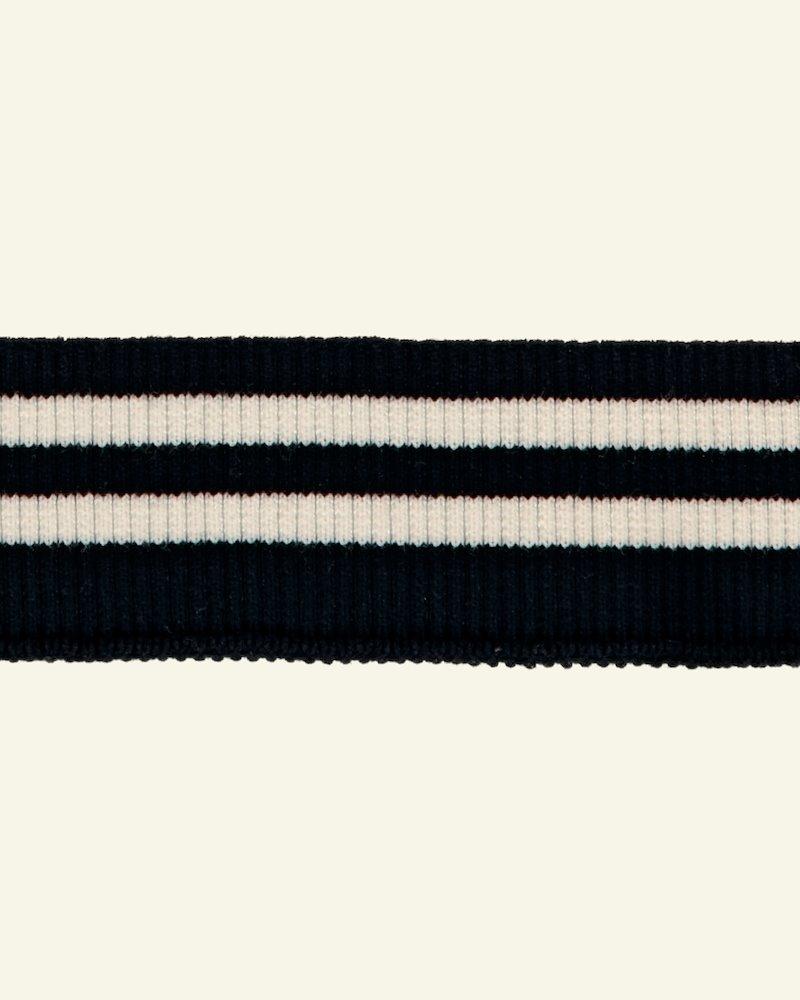 Rib Jersey 2x2, 5x90cm, Schwarz/Weiß
