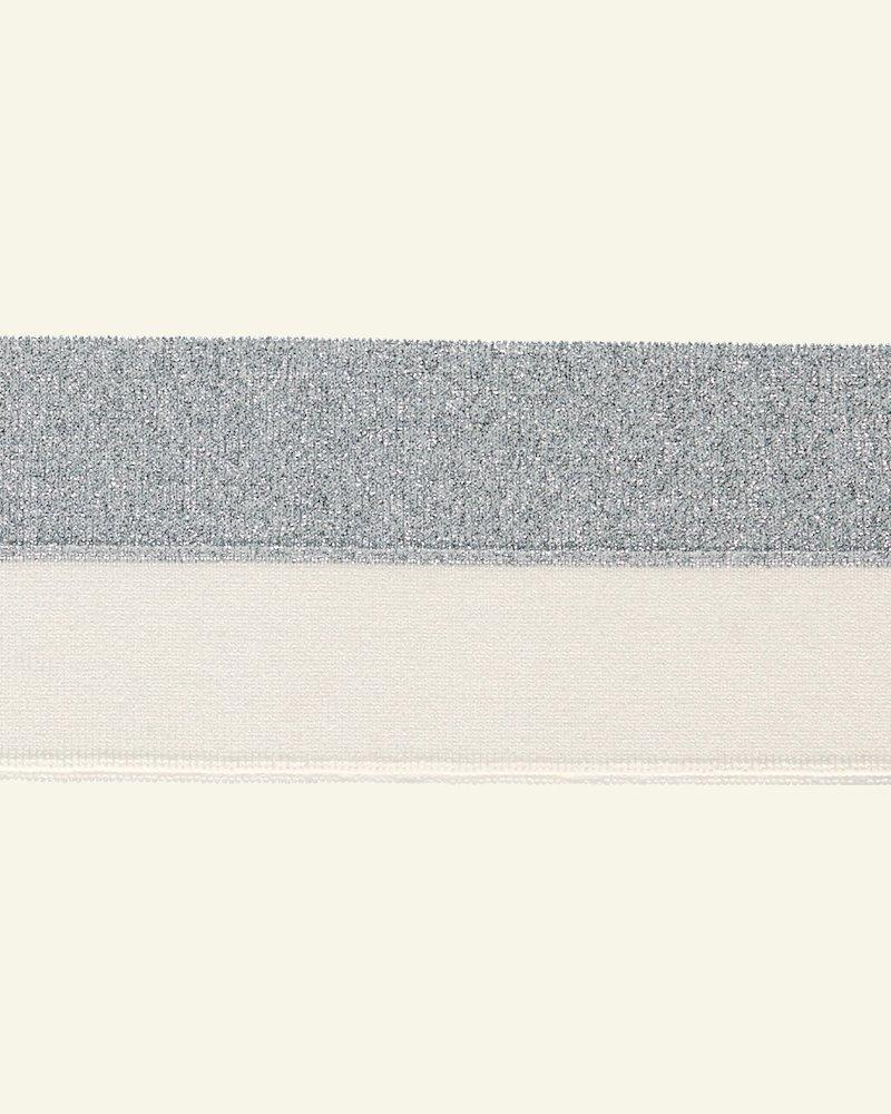 1x1 folderib 3x100cm hvid/silver lurex