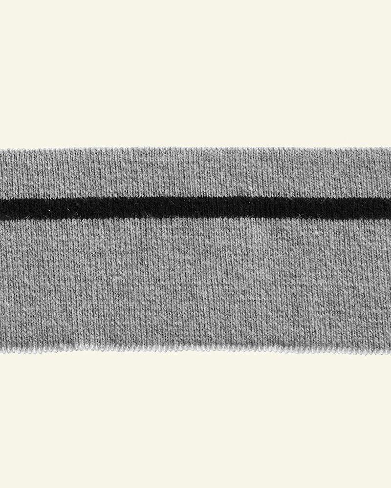 Rippe1x1,4,8x100cm Grau Melange/Schwarz